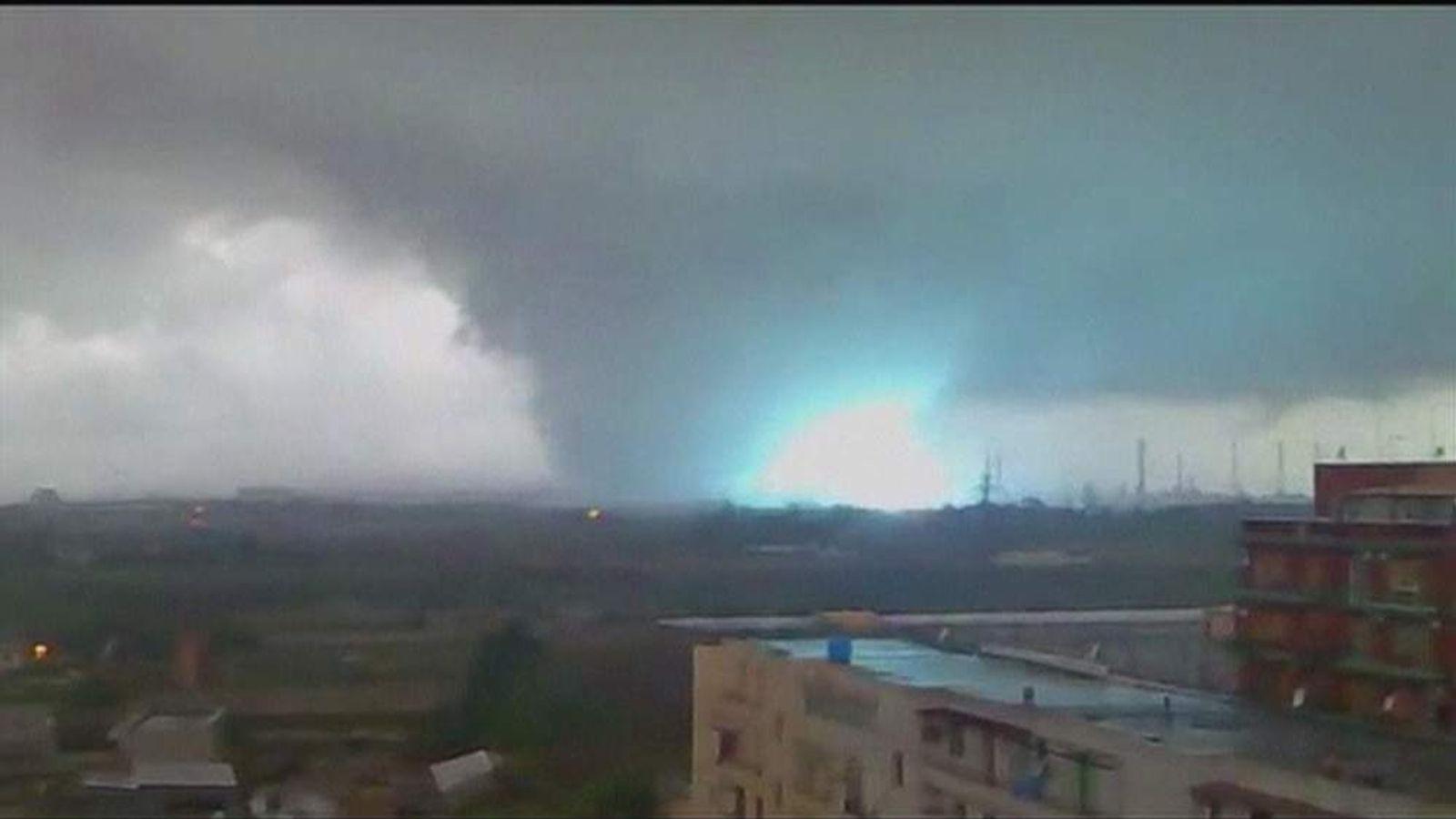 Tornado in Taranto, Italy