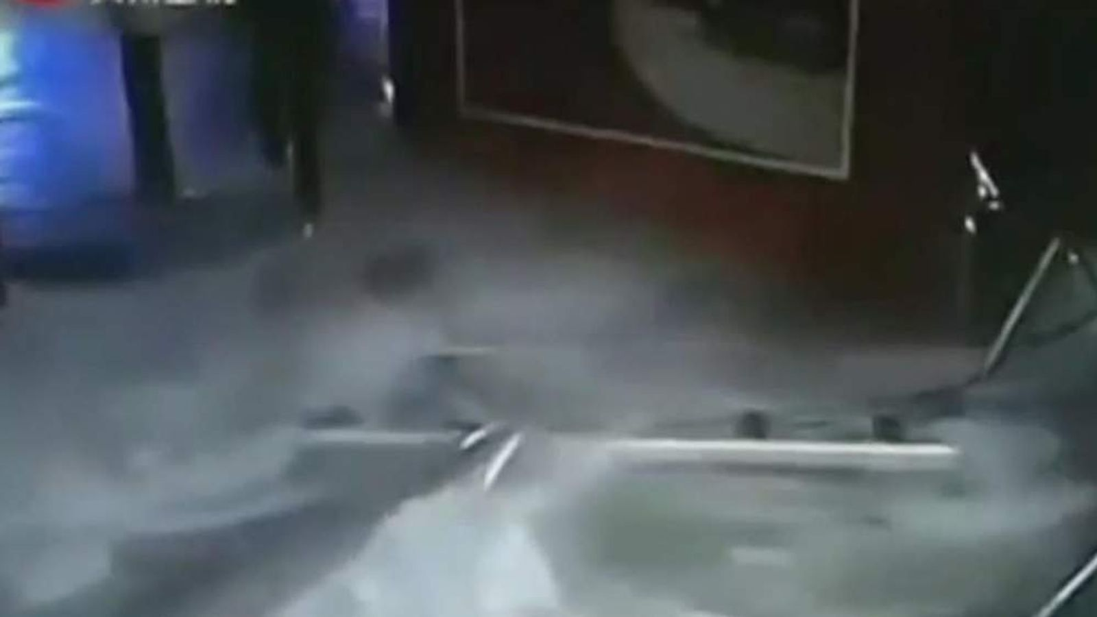 Shark tank explodes at shopping centre in Shanghai, China