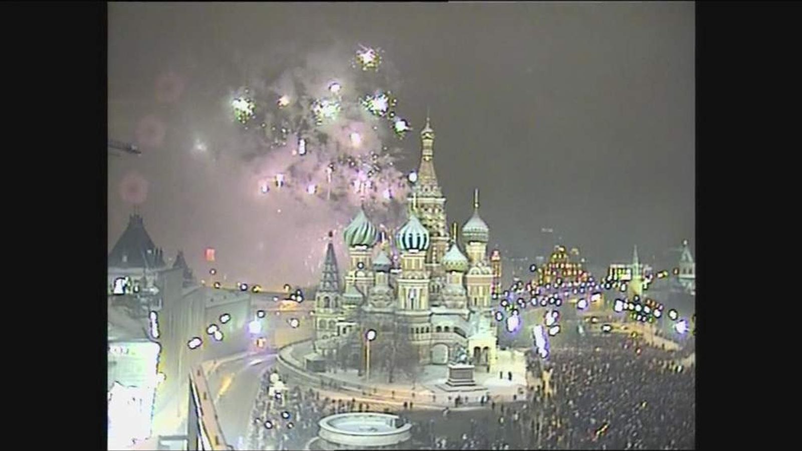 Fireworks display marks start of 2013 in Moscow