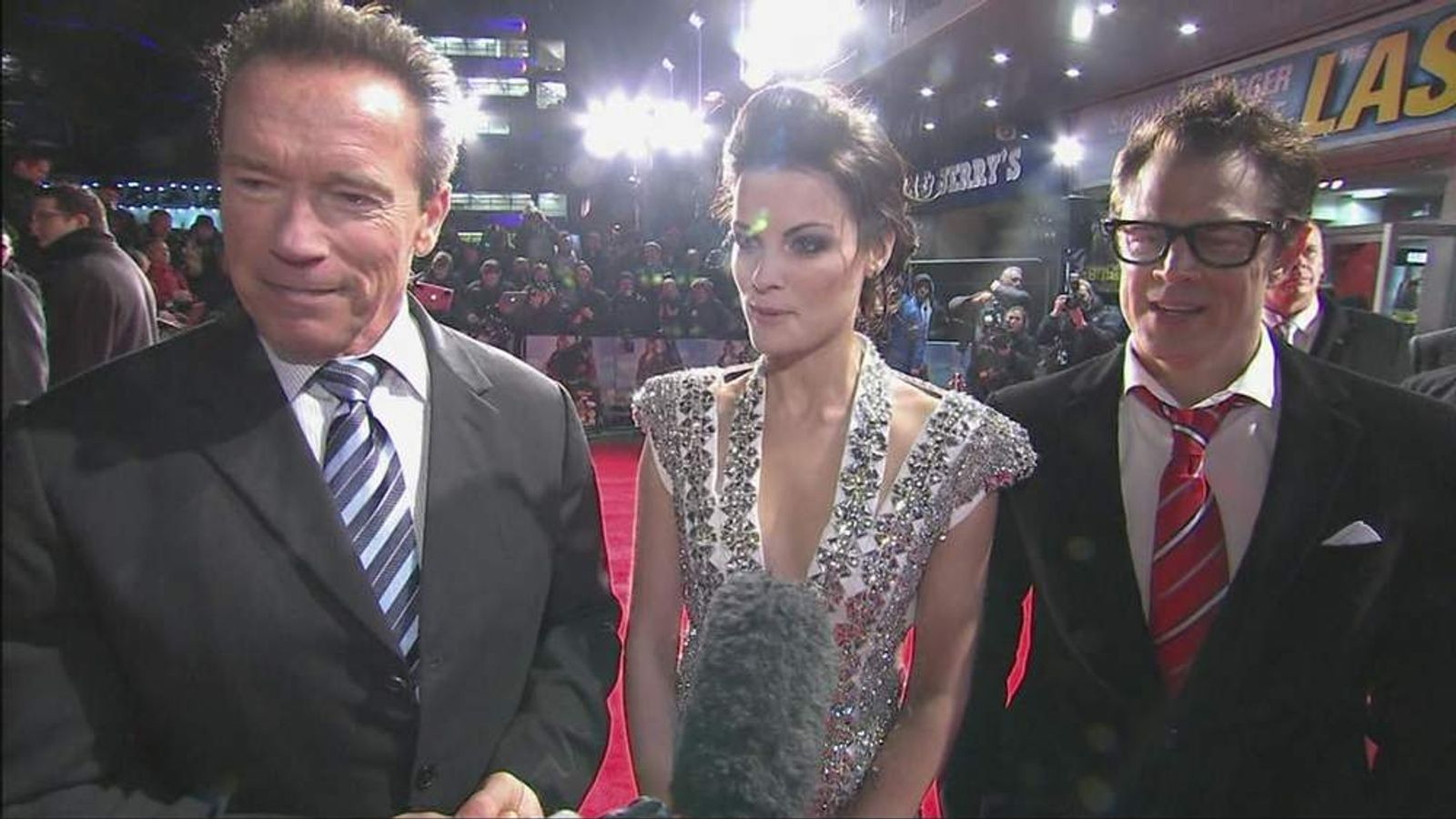 Arnie and co-stars In London
