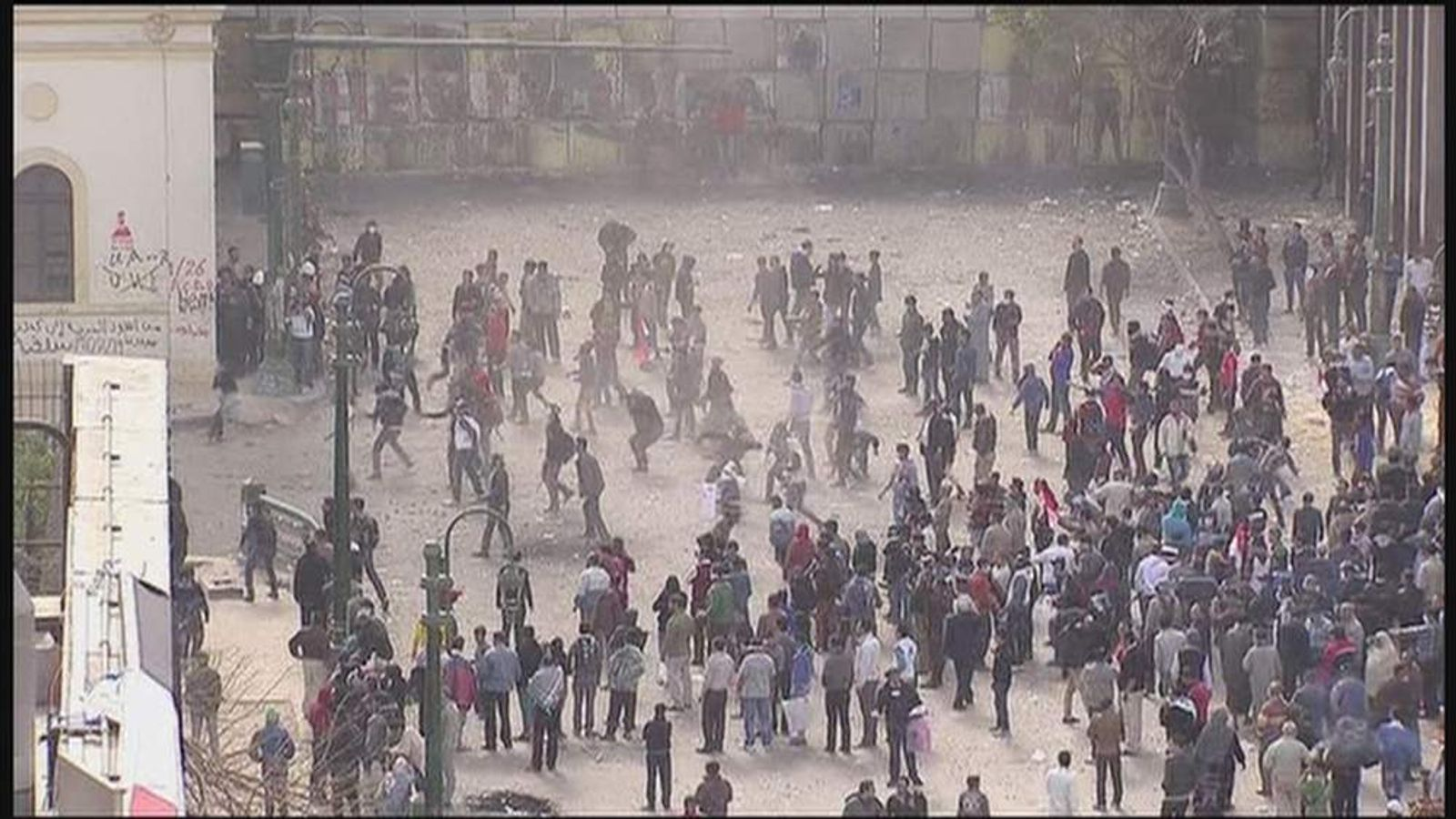 Protests are rekindled in Tahrir Square