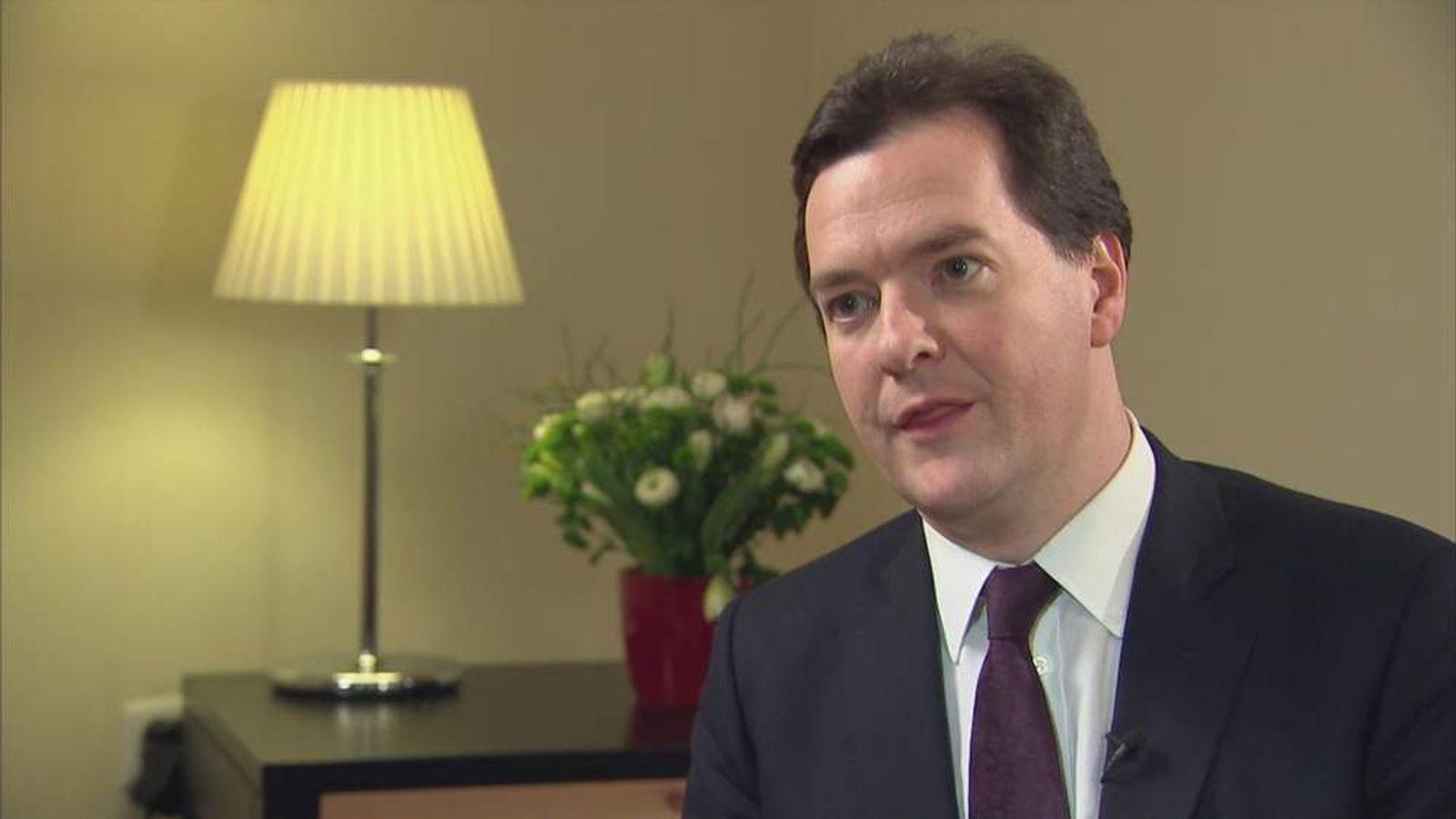 George Osborne in Davos