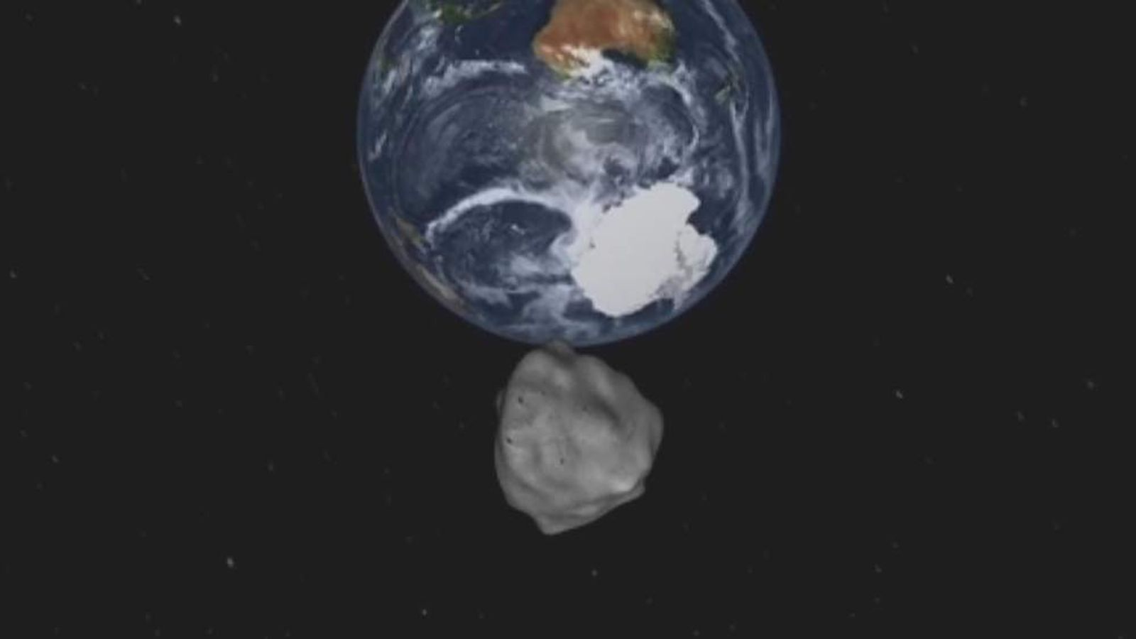 Asteroid to pass earth (Nasa pic)