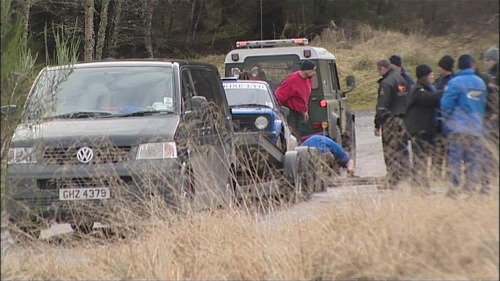 A 50-year-old woman has died after a car collided with spectators during a rally in the Scottish Highlands.