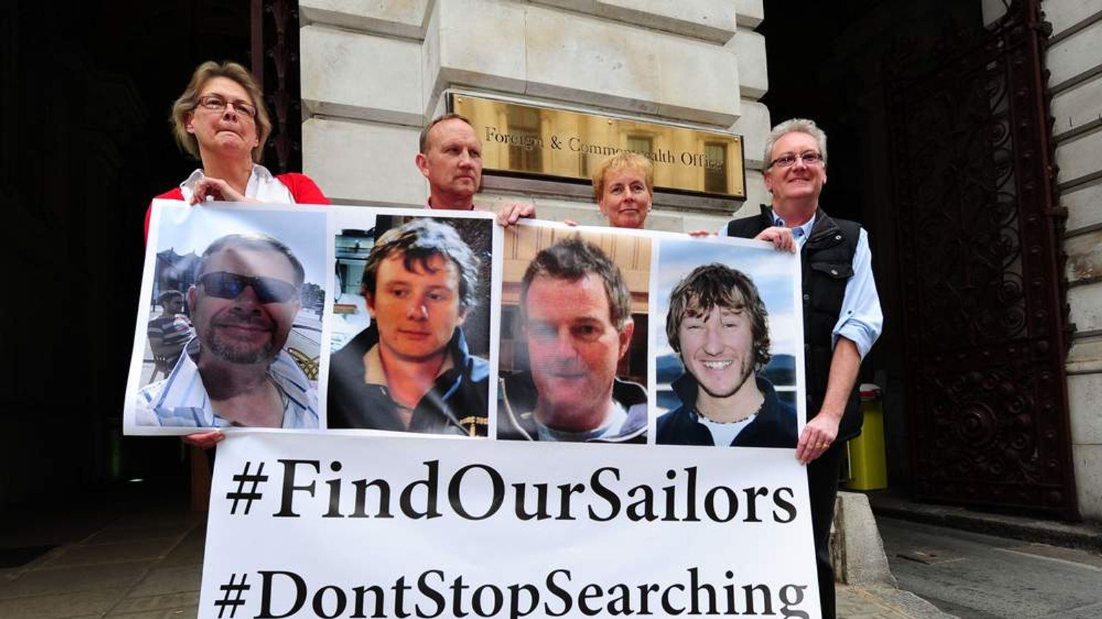 Britons missing after yacht capsizes