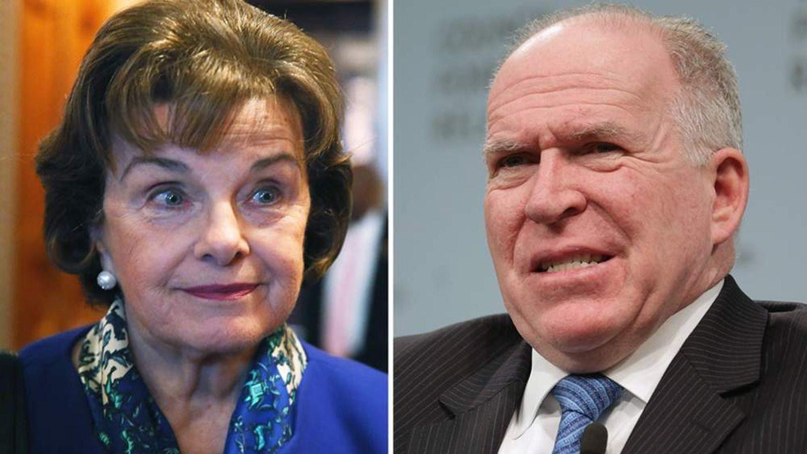 Senator Dianne Feinstein and CIA director John Brennan