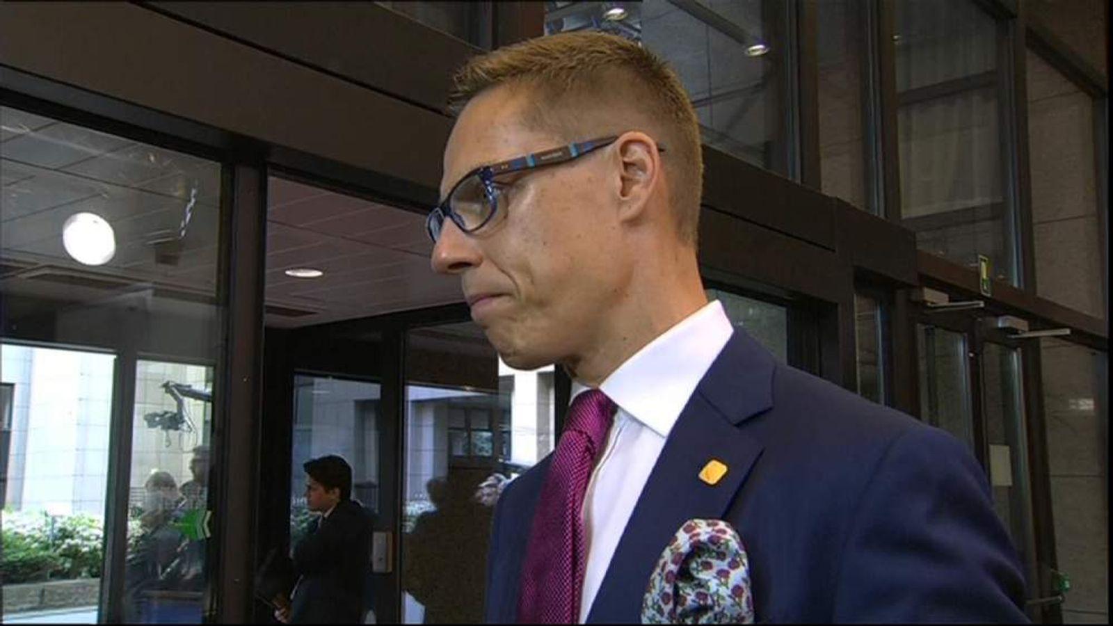 Finnish PM Alexander Stubb