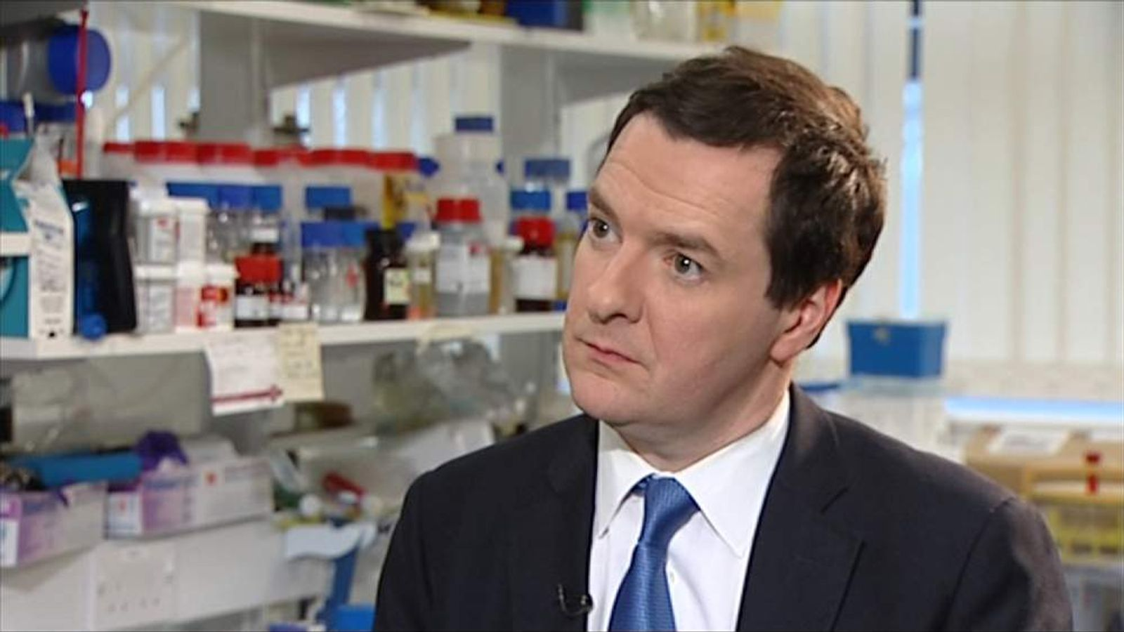The Chancellor George Osborne speaks to Sky's Ed Conway