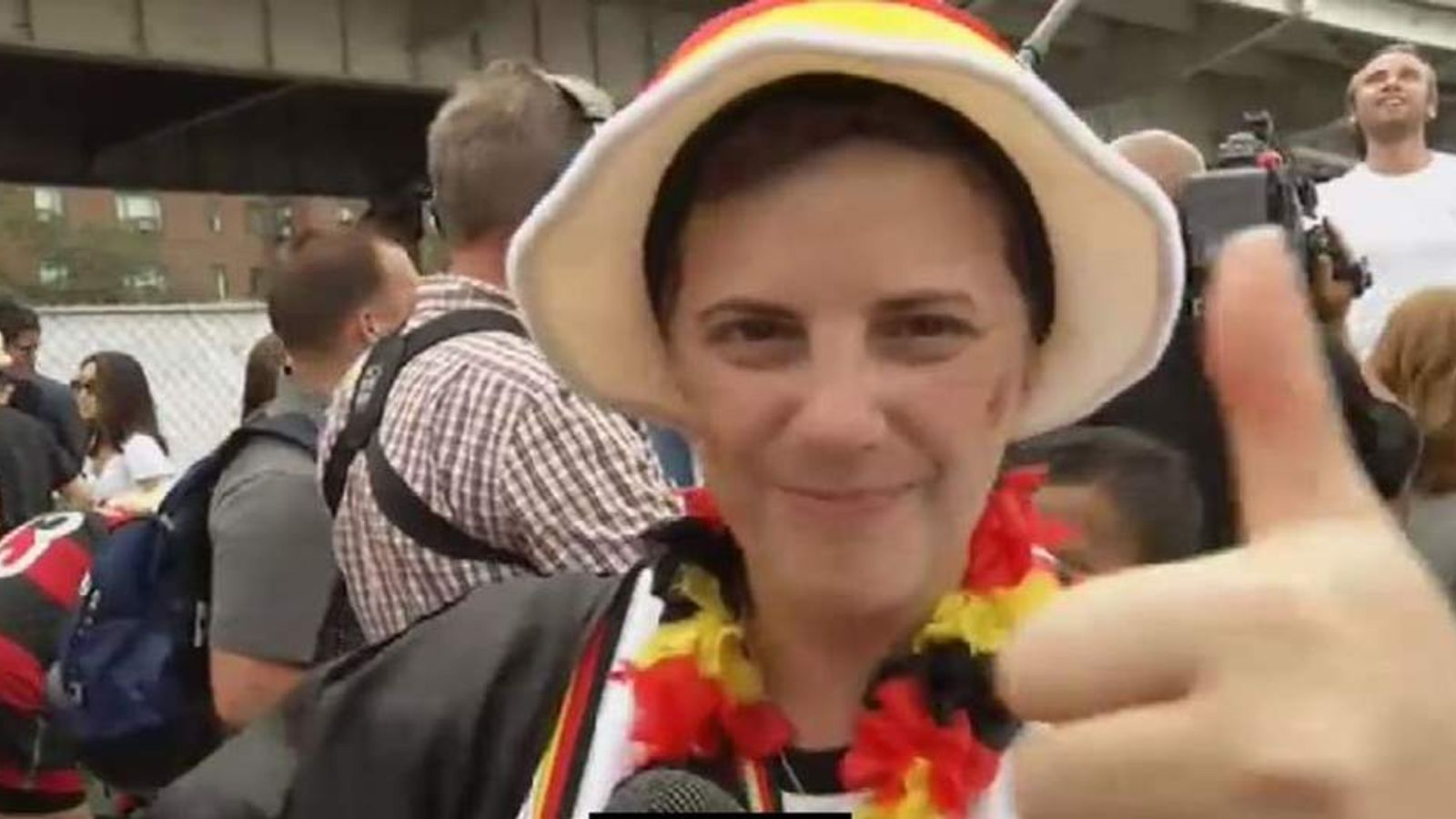 Germans Celebrate Wold Cup Win In New York
