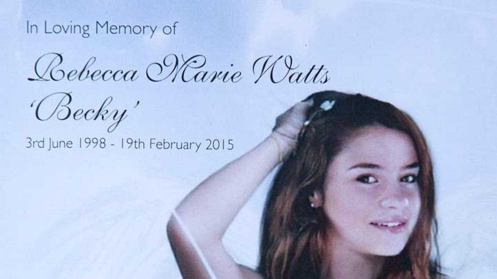 Funeral Of Bristol Teenager Becky Watts