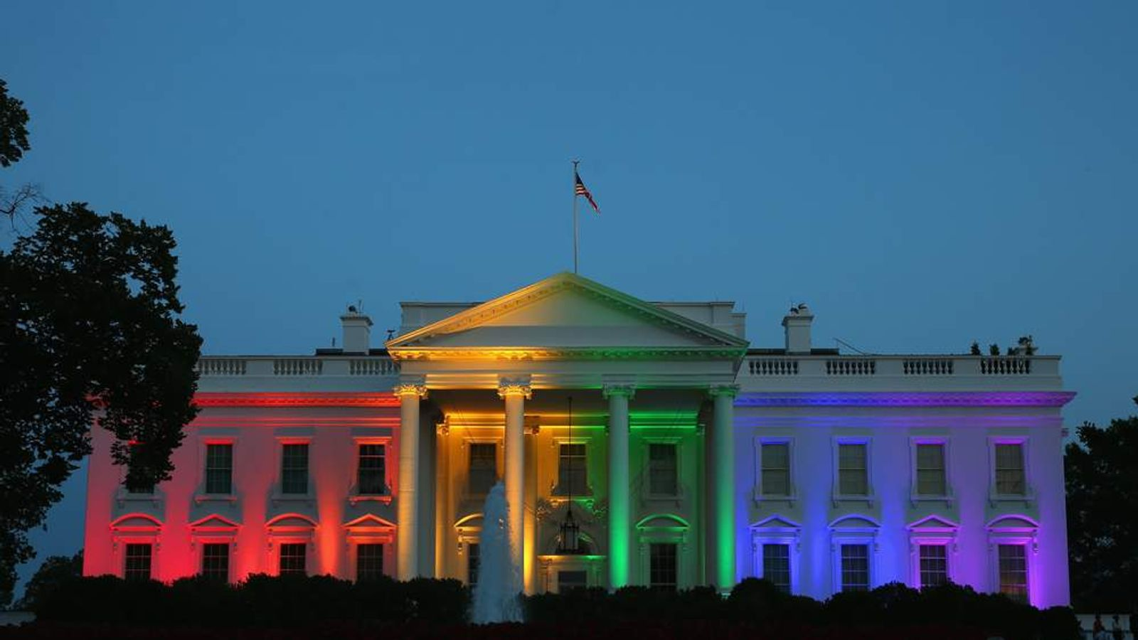 The White House turns rainbow-coloured after the ruling in favour of same-sex marriage