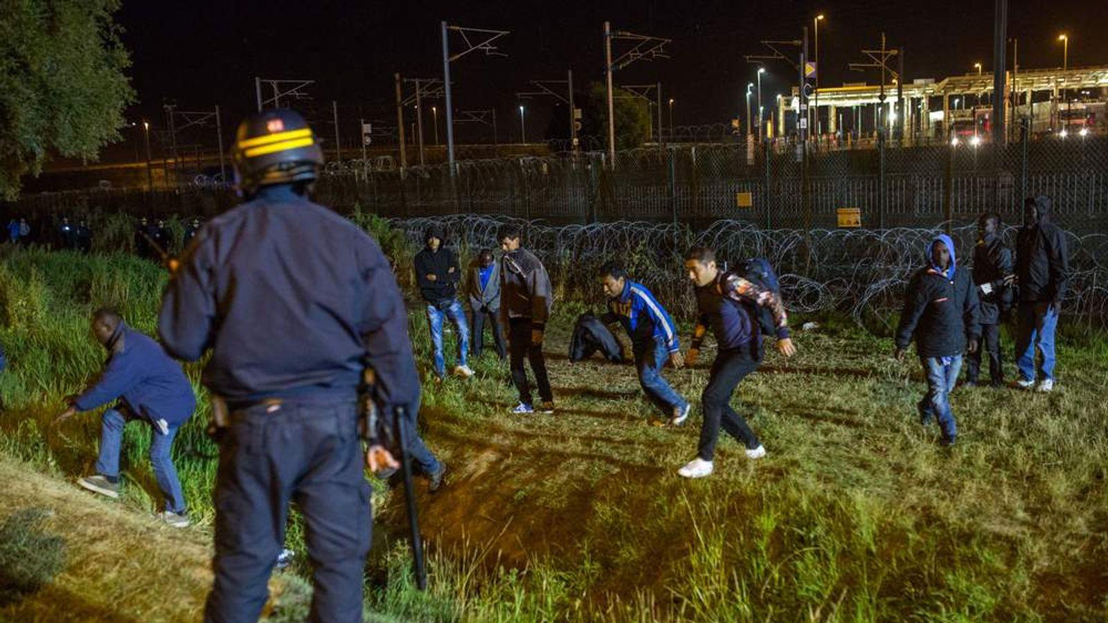 030815 MIGRANTS CRISIS Migrants in Calais France