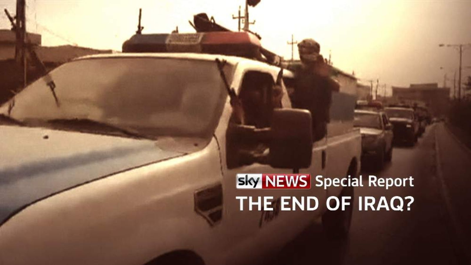 The End Of Iraq? special programme slide