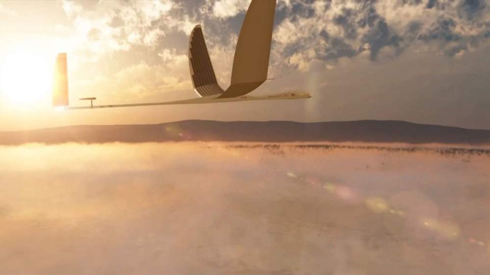 Screengrab of Titan Aerospace promo video for its solar-powered drone