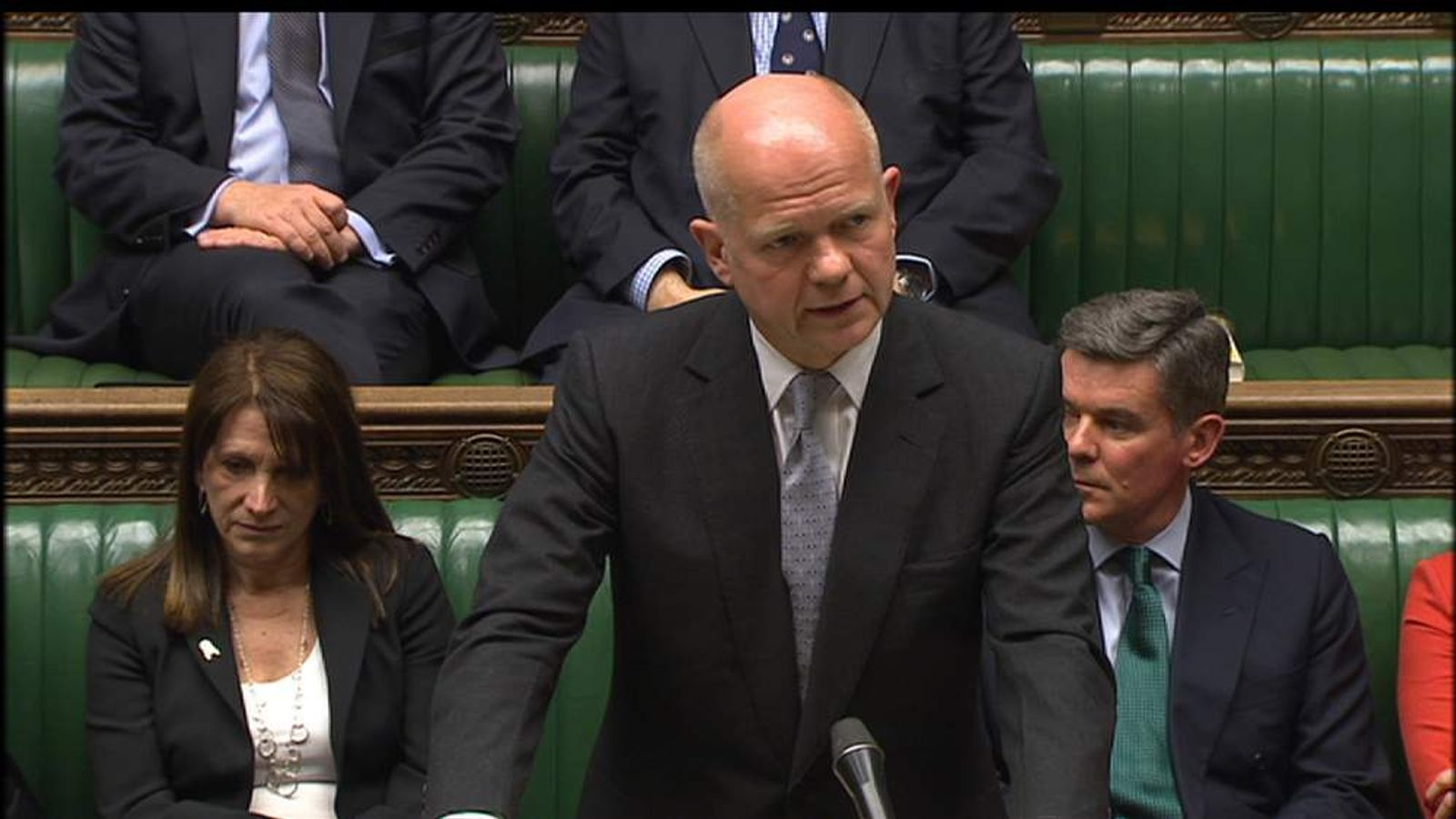 Foreign Secretary William Hague makes a Commons statement