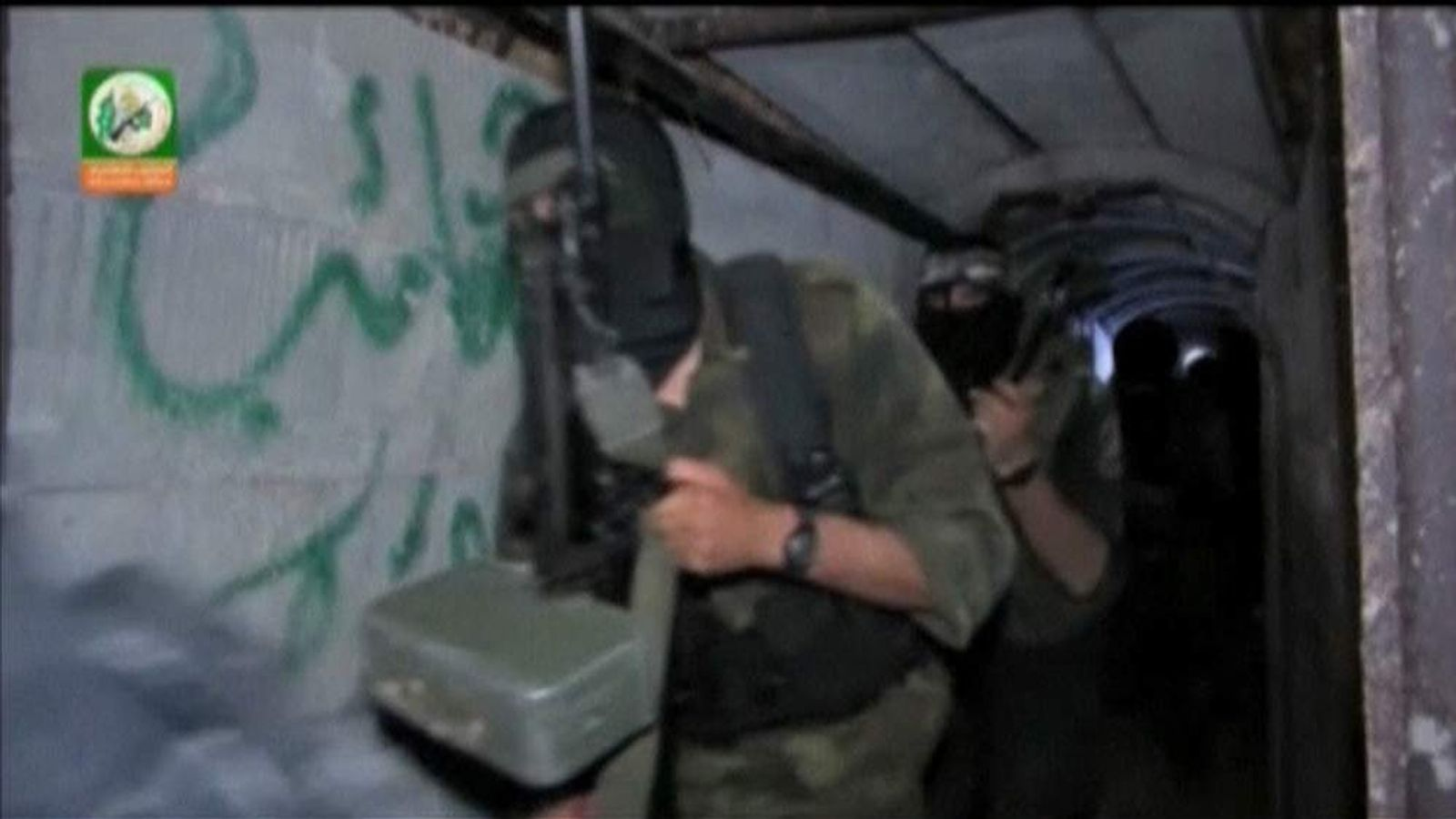 Hamas' armed wing release footage of a militant-used tunnel in Gaza