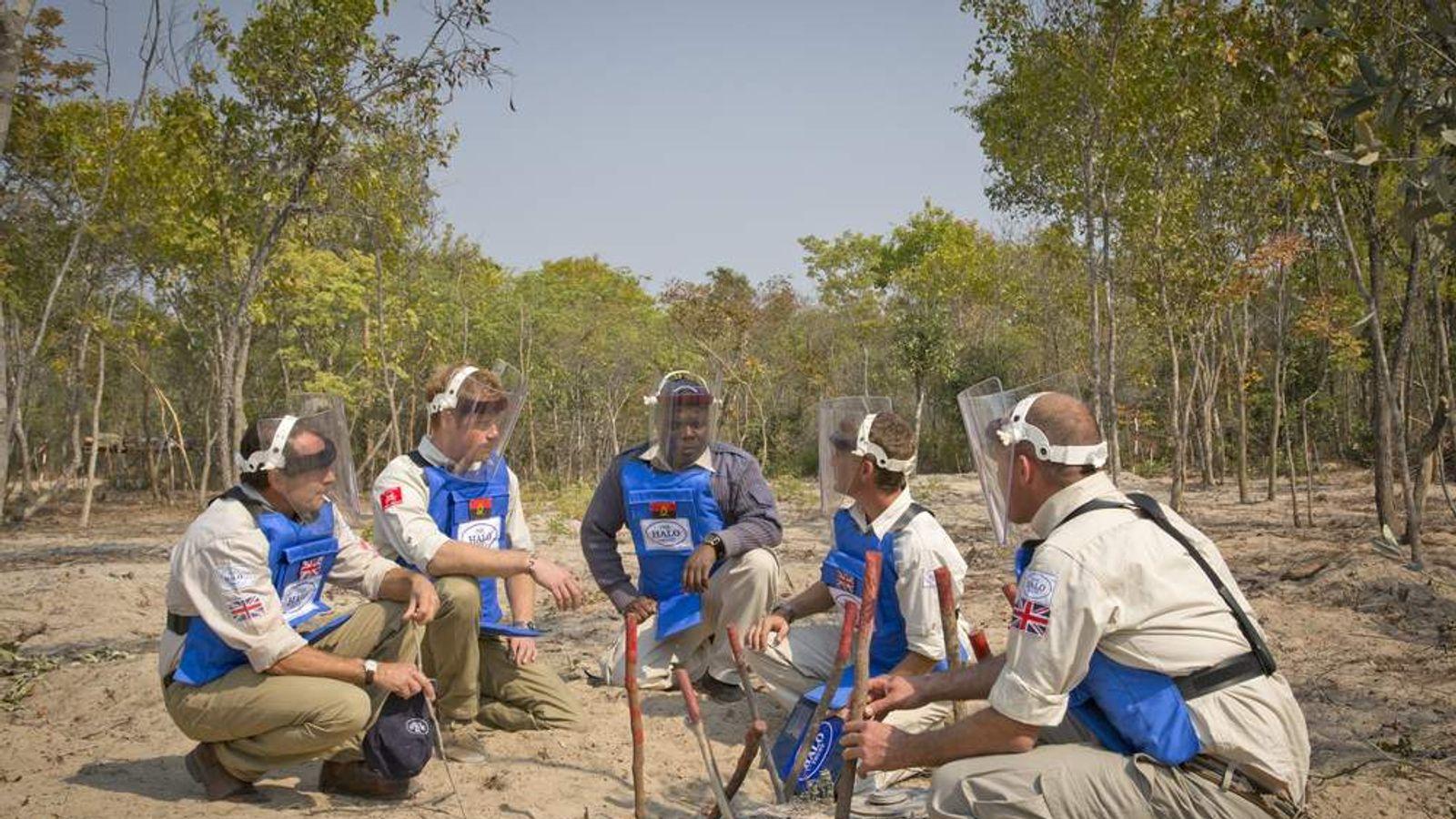 Prince Harry on HALO Trust trip to Angola