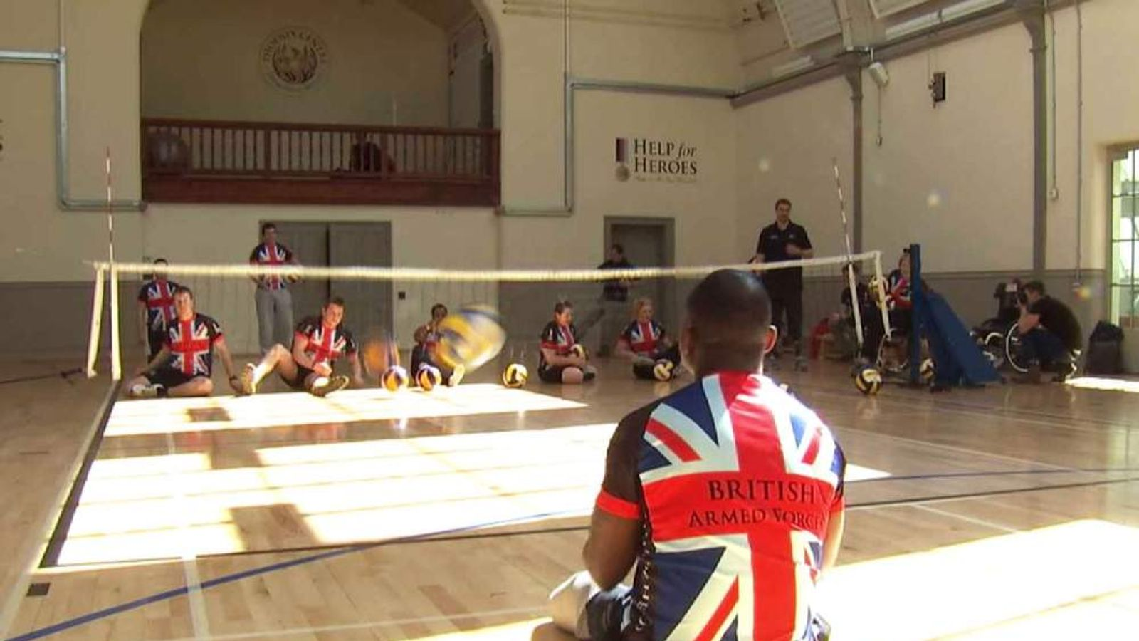 Help for Heroes soldiers practice for Warrior Games in US