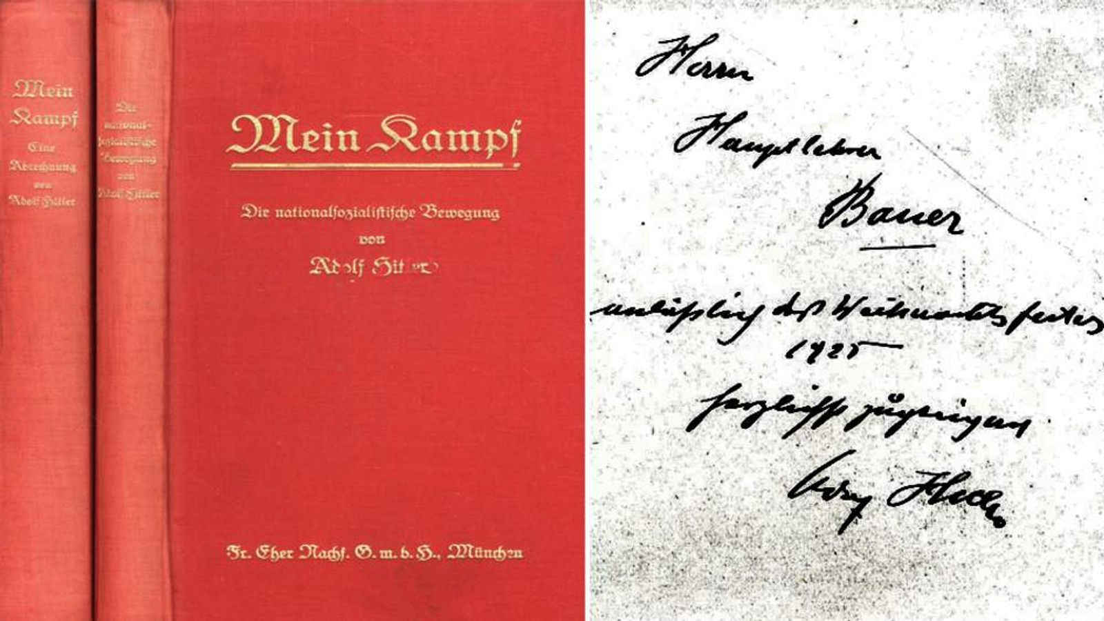 Adolf Hitler Signed Copy Of Mein Kampf