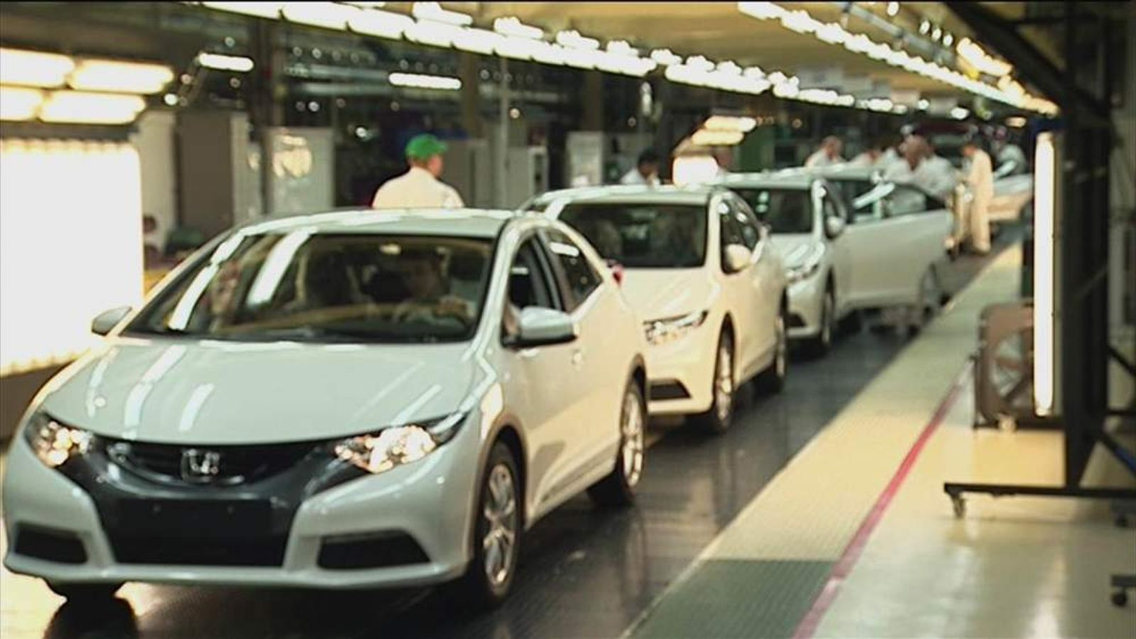 Production line in Swindon's Honda factory