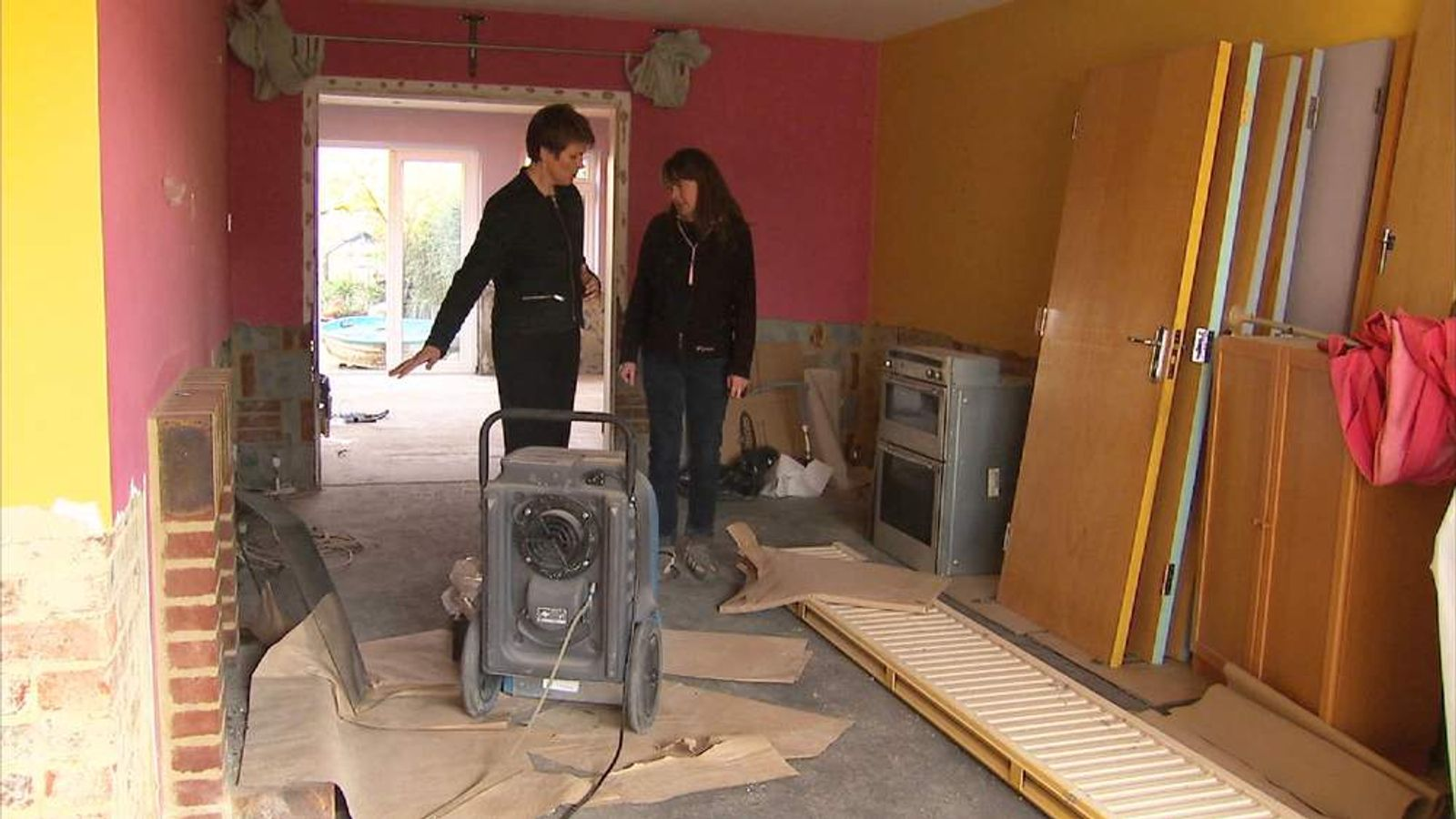 Jacquie Marr's semi in Leatherhead, Surrey, was flooded seven months ago