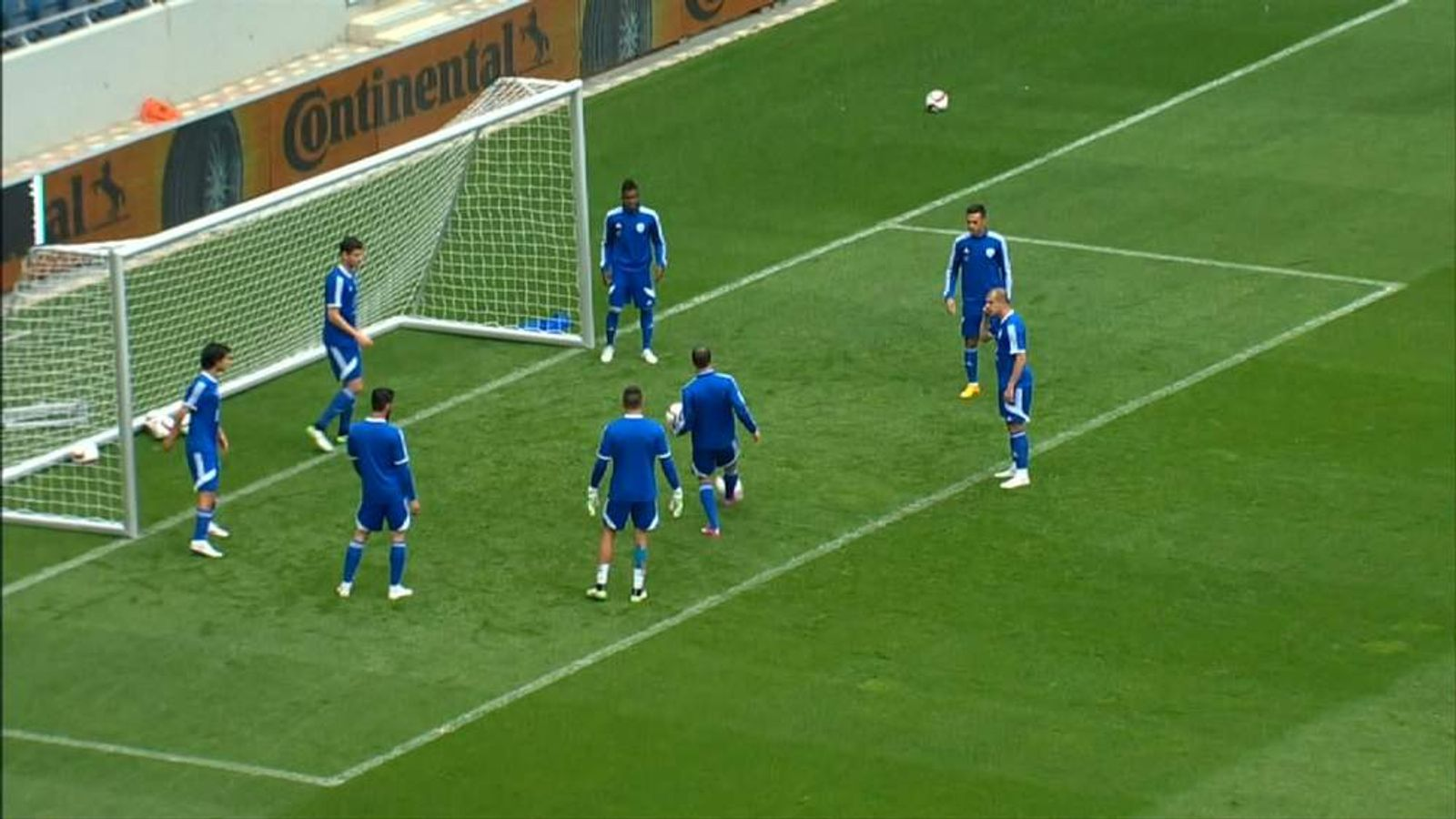 Israeli players in training