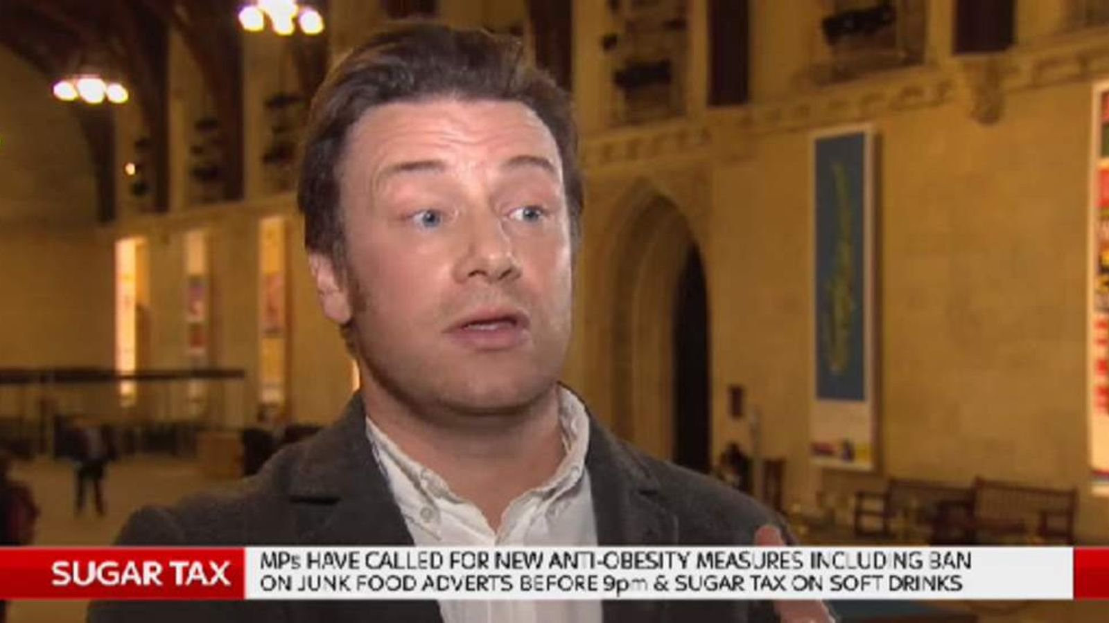 TV chef Jamie Oliver is campaigning for a tax on sugary drinks,
