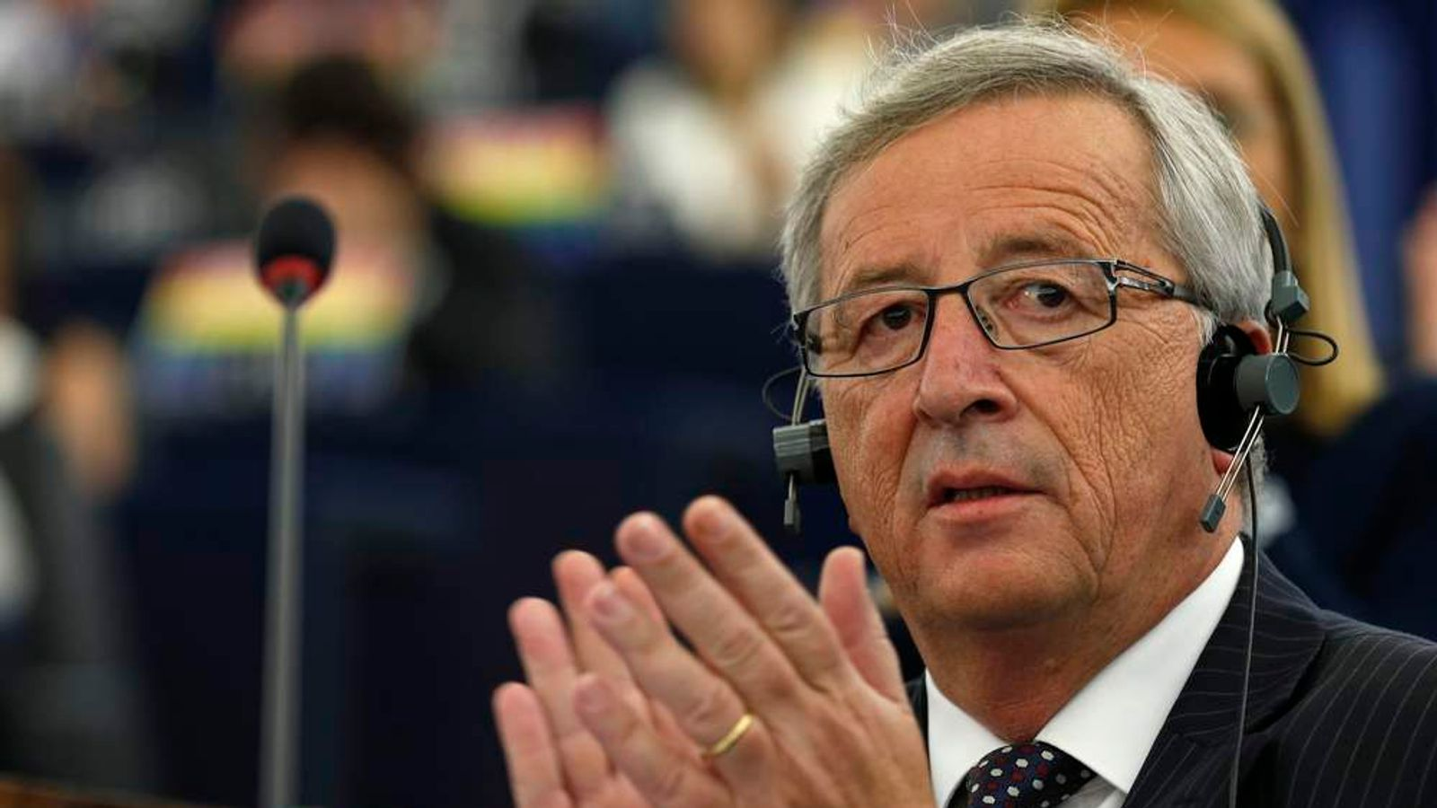 Designated president of the European Commission Juncker attends a debate on his election at the European Parliament in Strasbourg