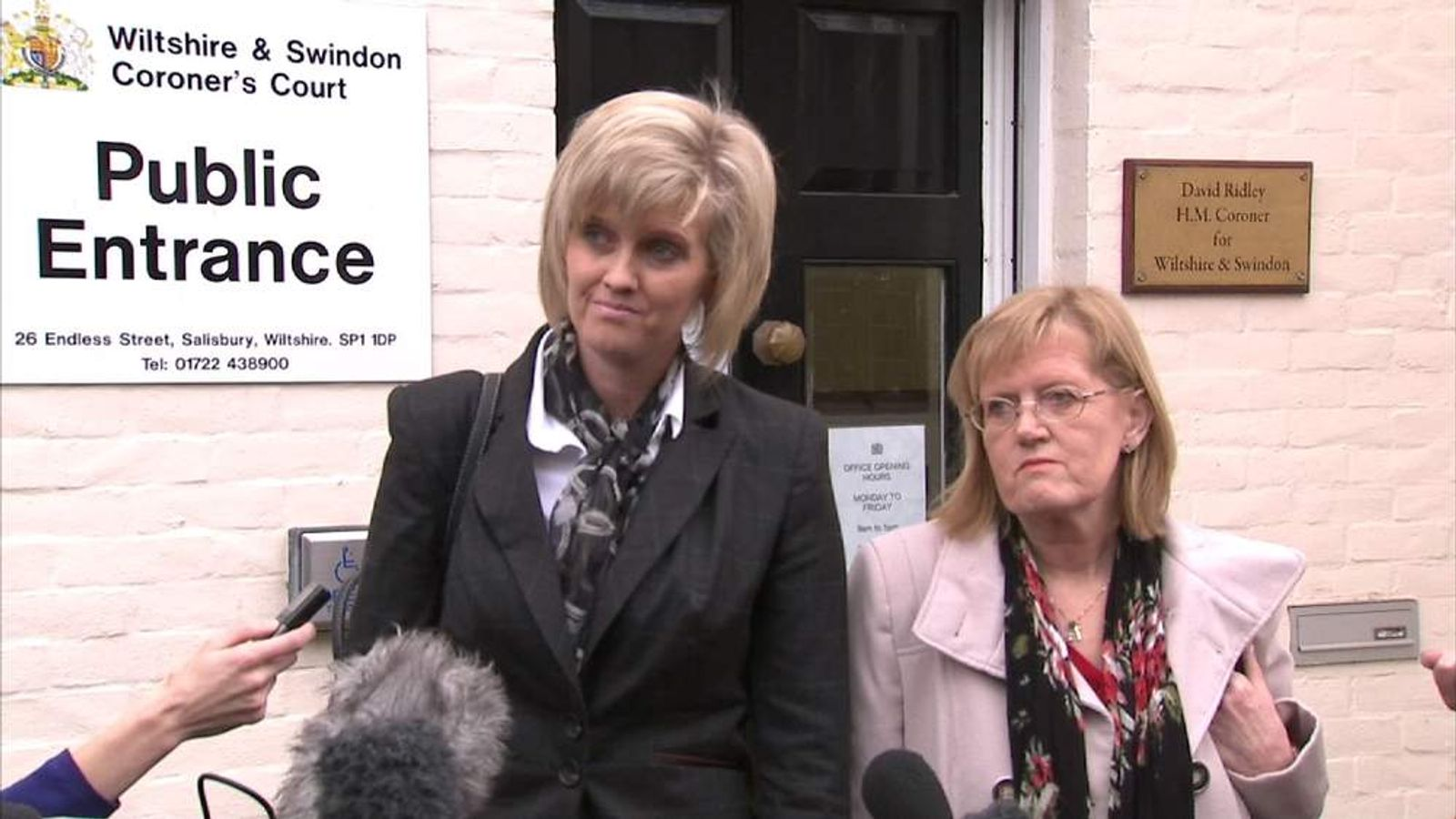Anne-Marie Ellement's sister Kristina Swain speaks as inquest is adjourned