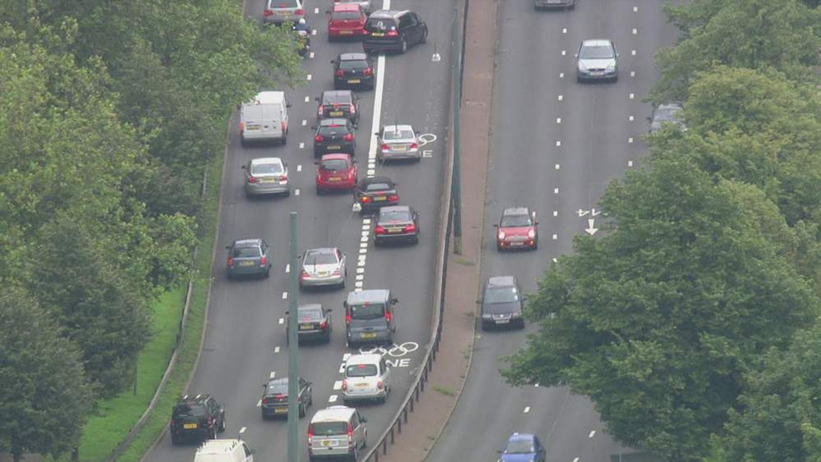 Confusion for motorists over Olympic lanes