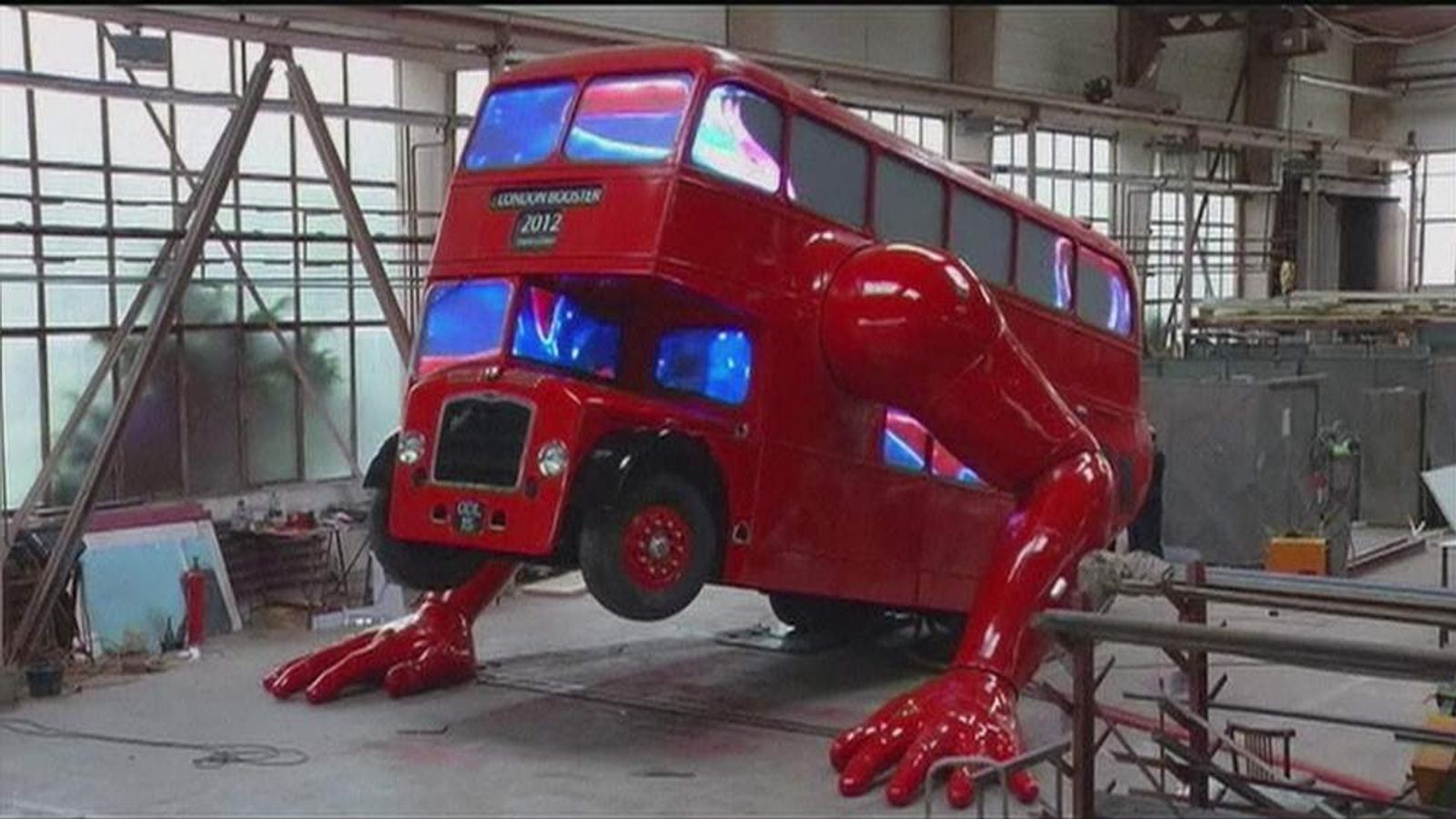 London Bus Does Push_Ups In Latest Work By Artist David Cerny