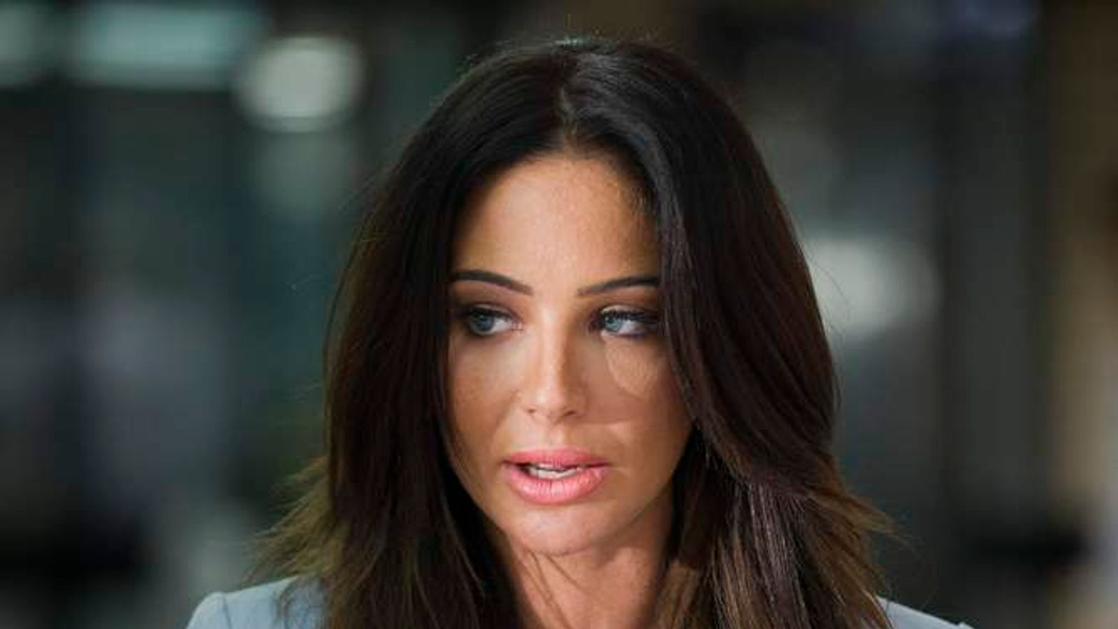 Tulisa Contostavlos outside court.