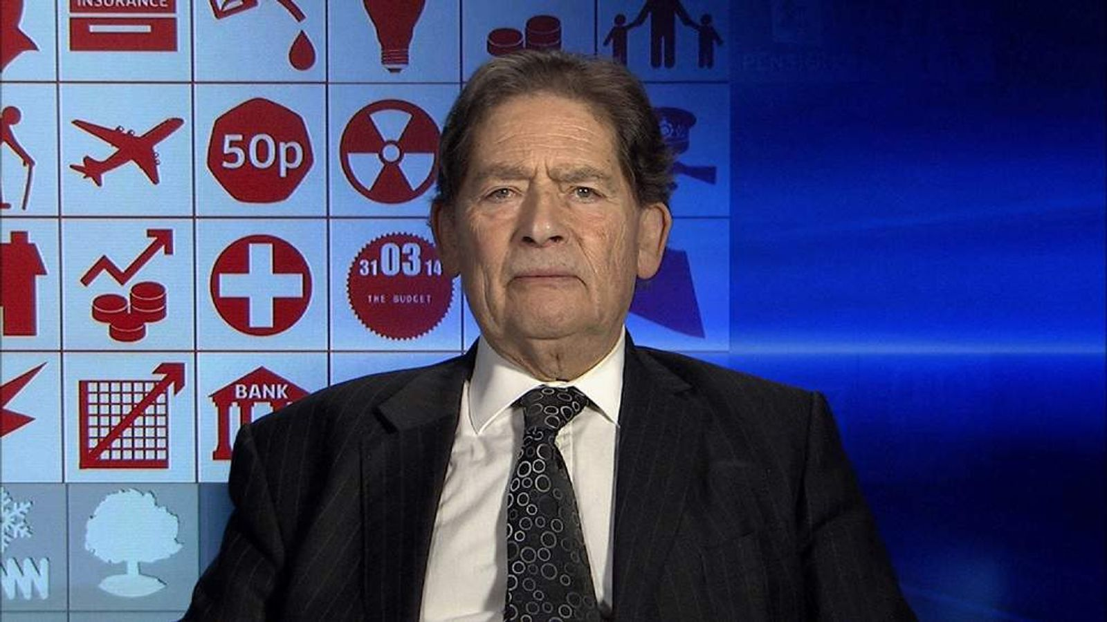 Former Chancellor Lord Lawson gives his response to the 2014 Budget