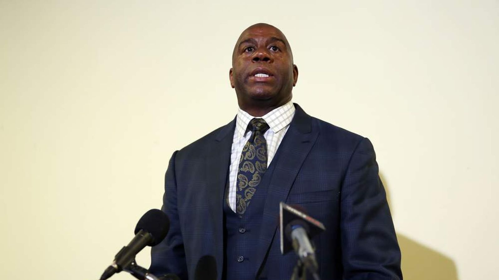 Magic Johnson speaks about Donald Sterling's comments