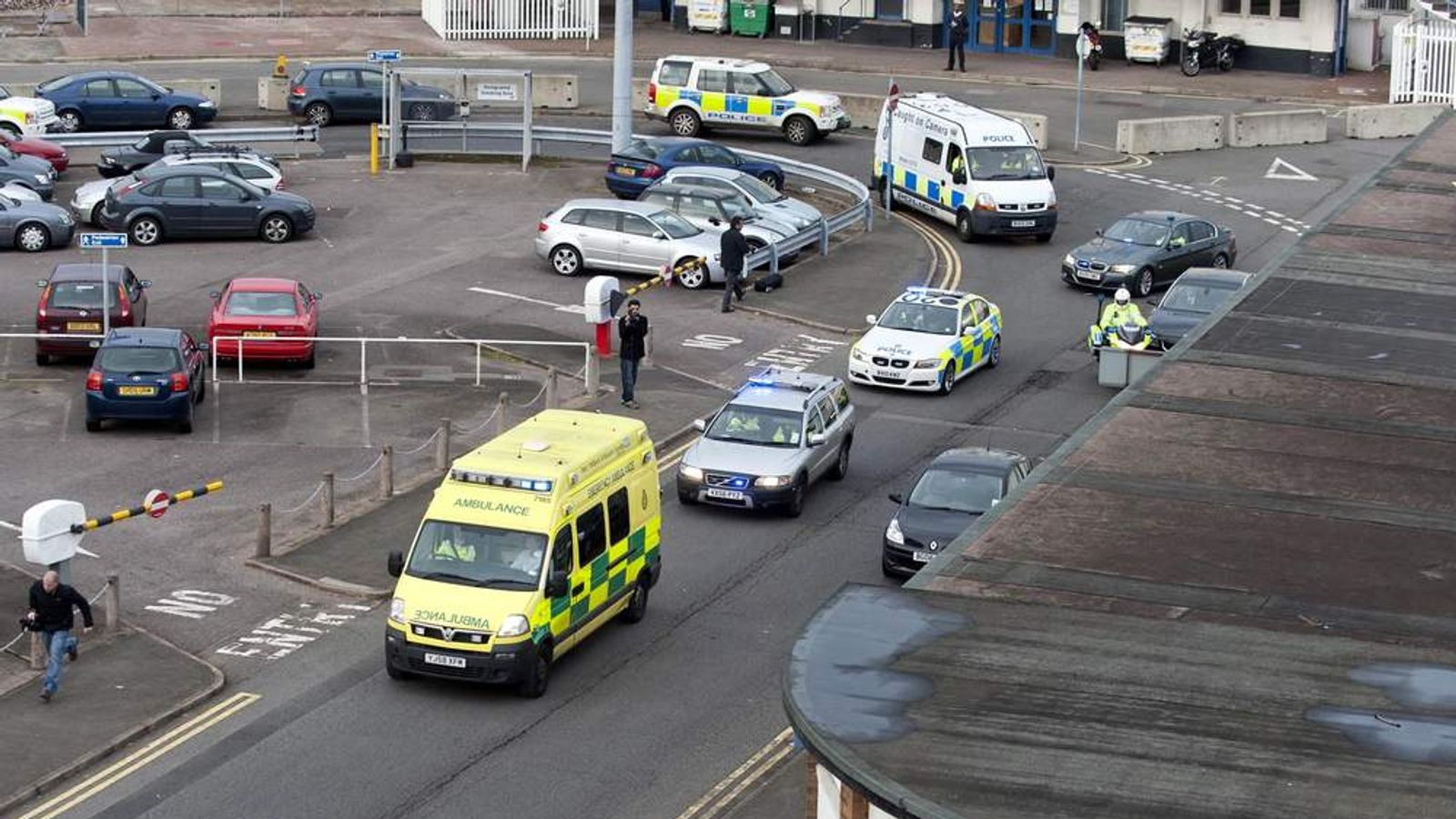 Malala arrives at hospital
