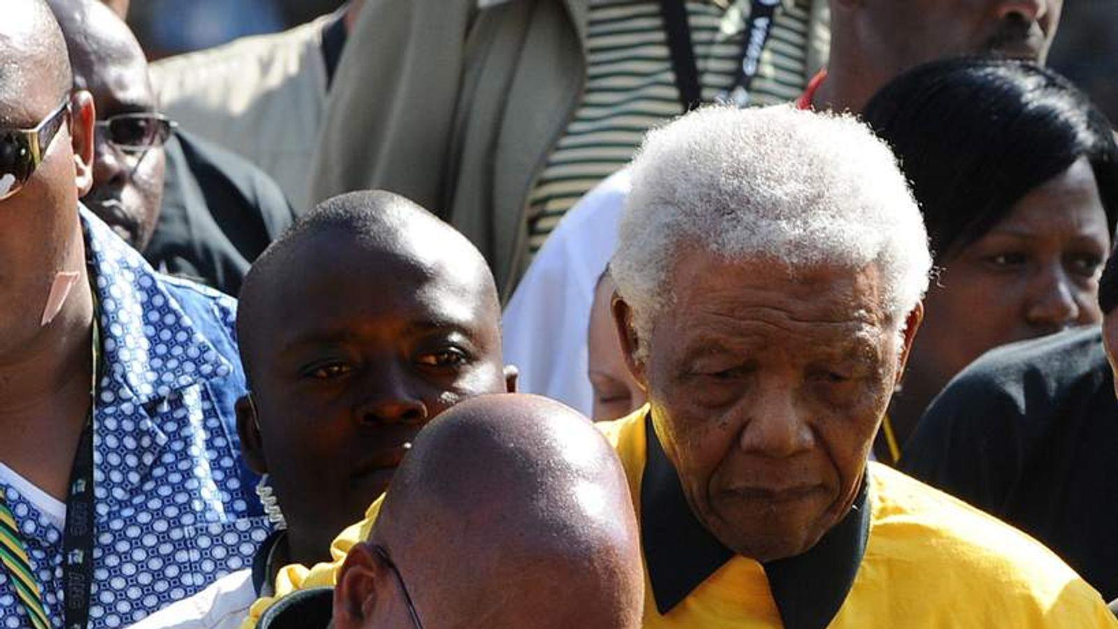 Presidential favourite Jacob Zuma (L) he