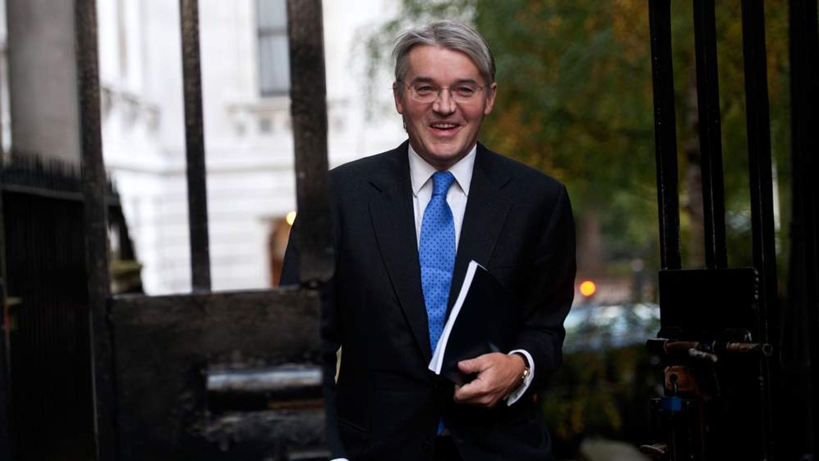 Andrew Mitchell arriving in Downing Street