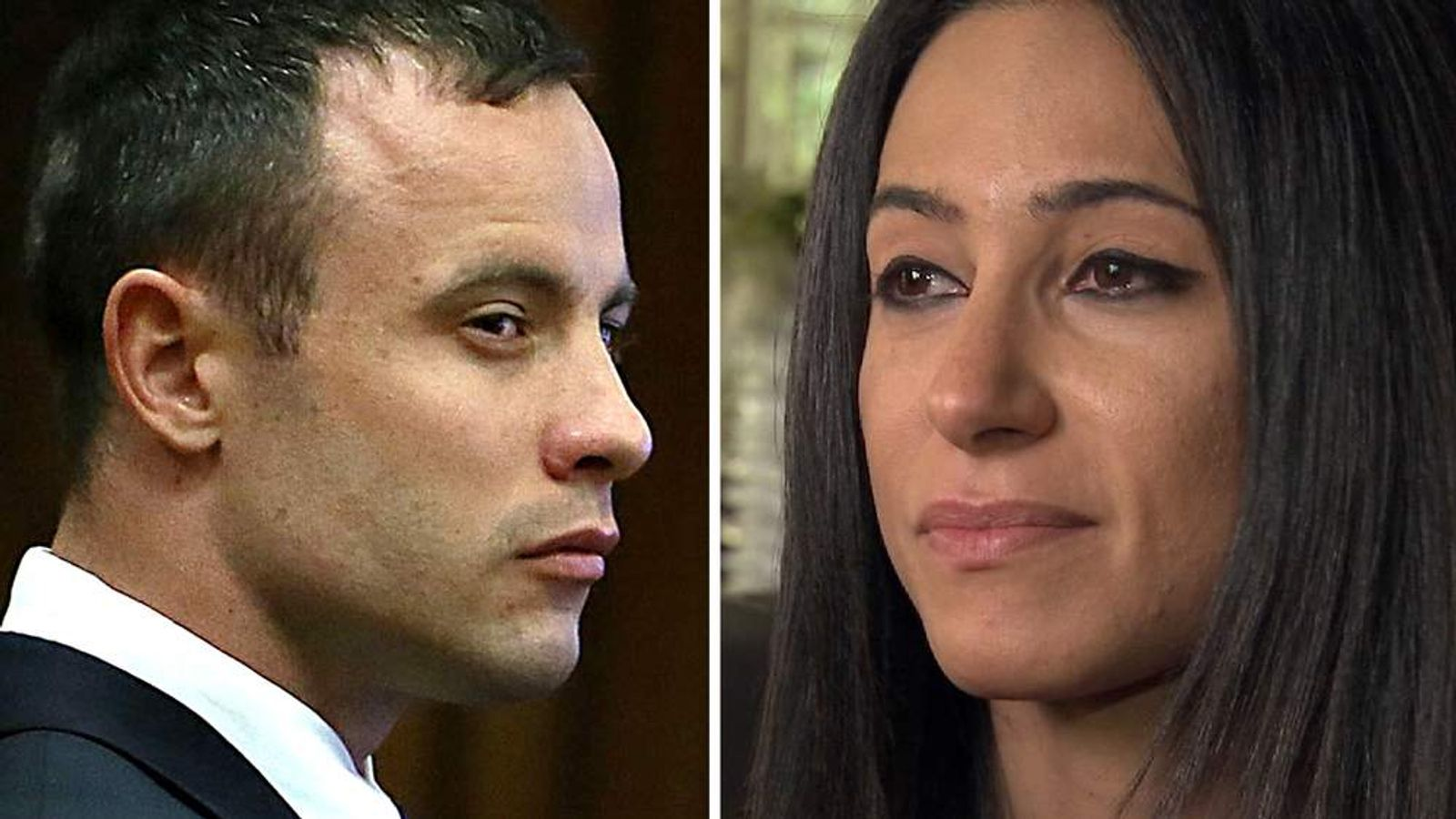 Oscar Pistorius and Kim Myers.
