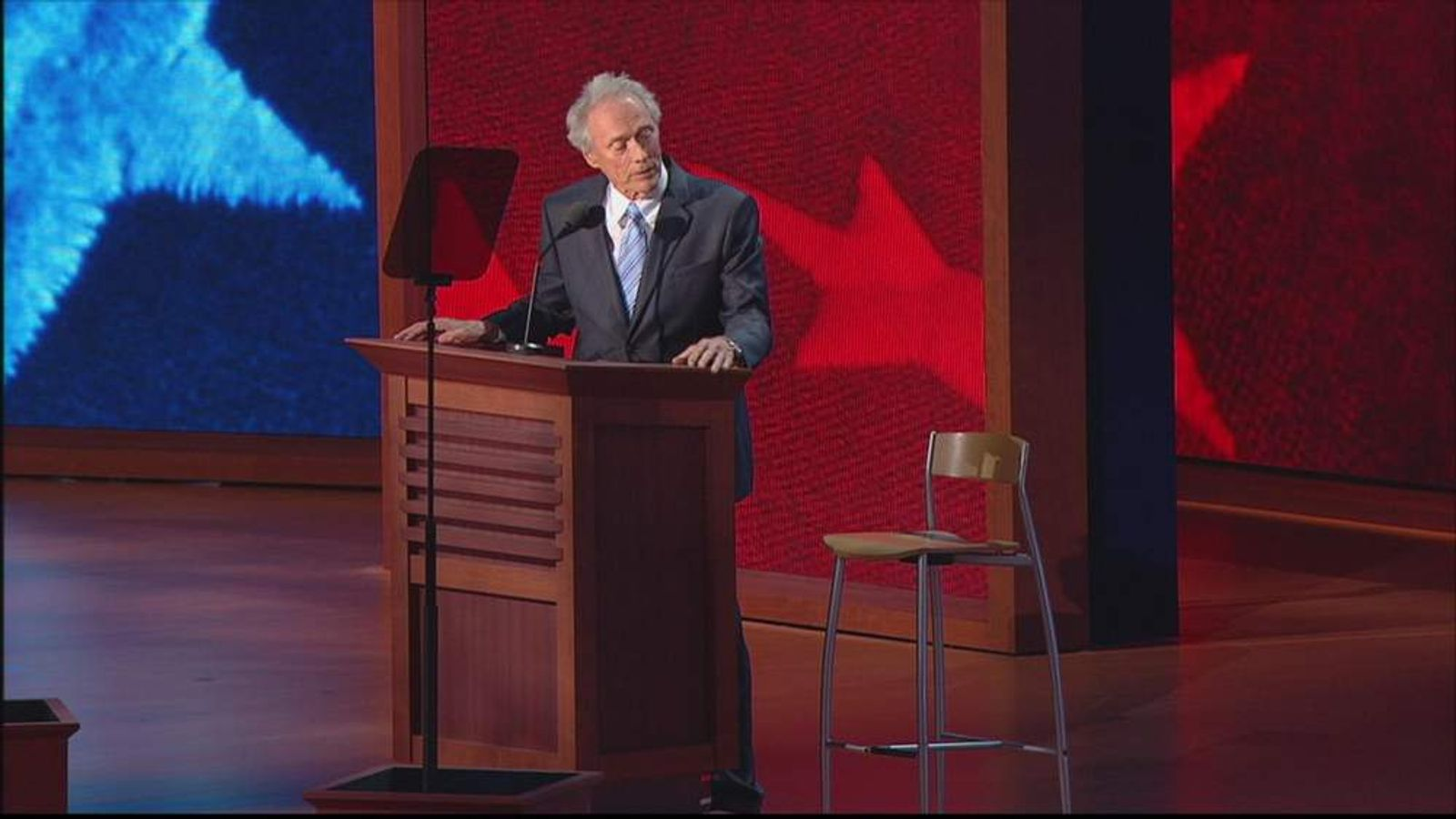 Clint Eastwood and an empty chair