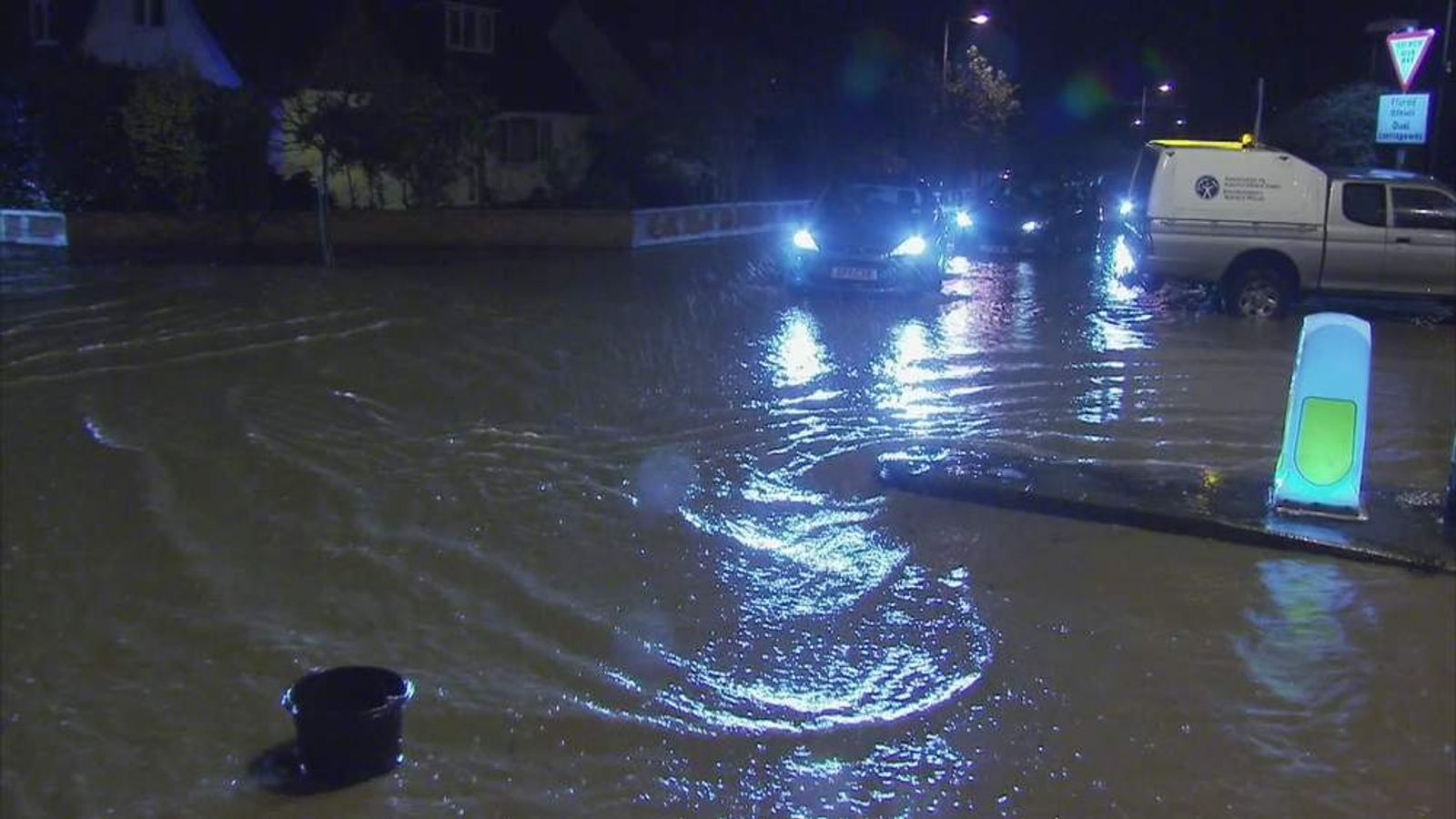 Flooding in St Asaph North Wales