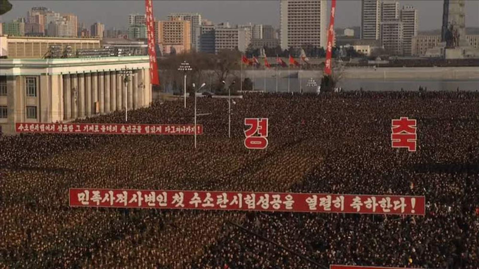 Authorities say up to 100,000 attended