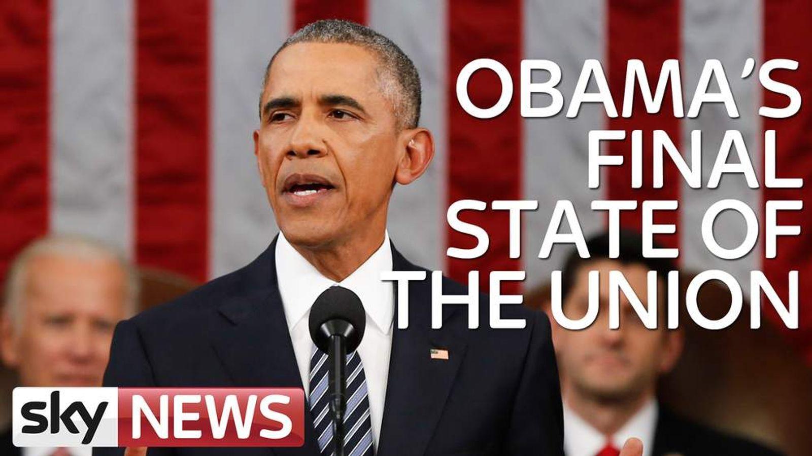 Obama state of the union slate