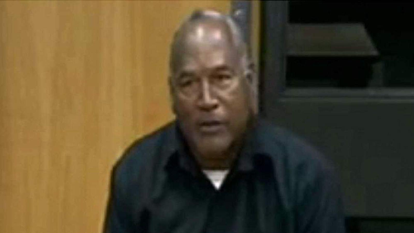 OJ Simpson appears at a parole board hearing