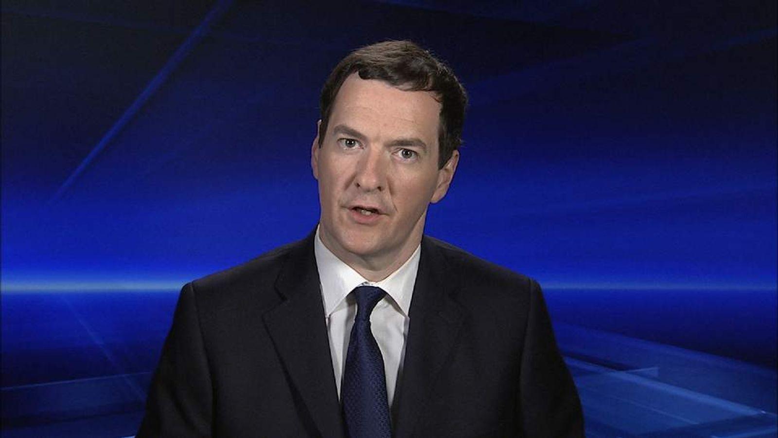 Chancellor George Osborne