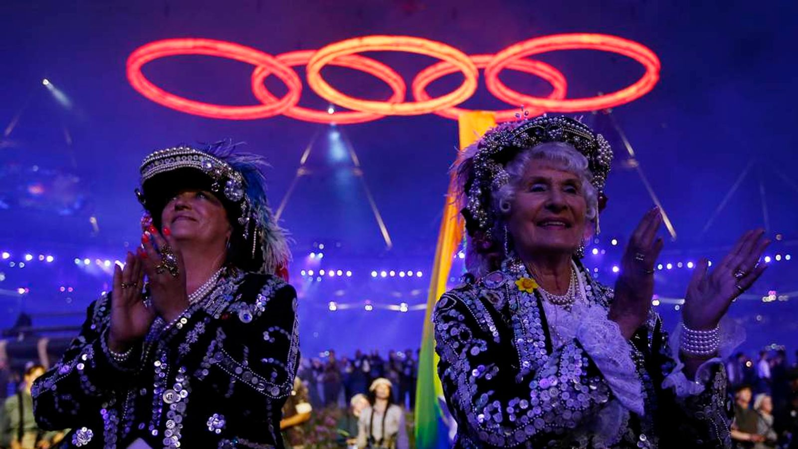Performers at Olympic opening ceremony