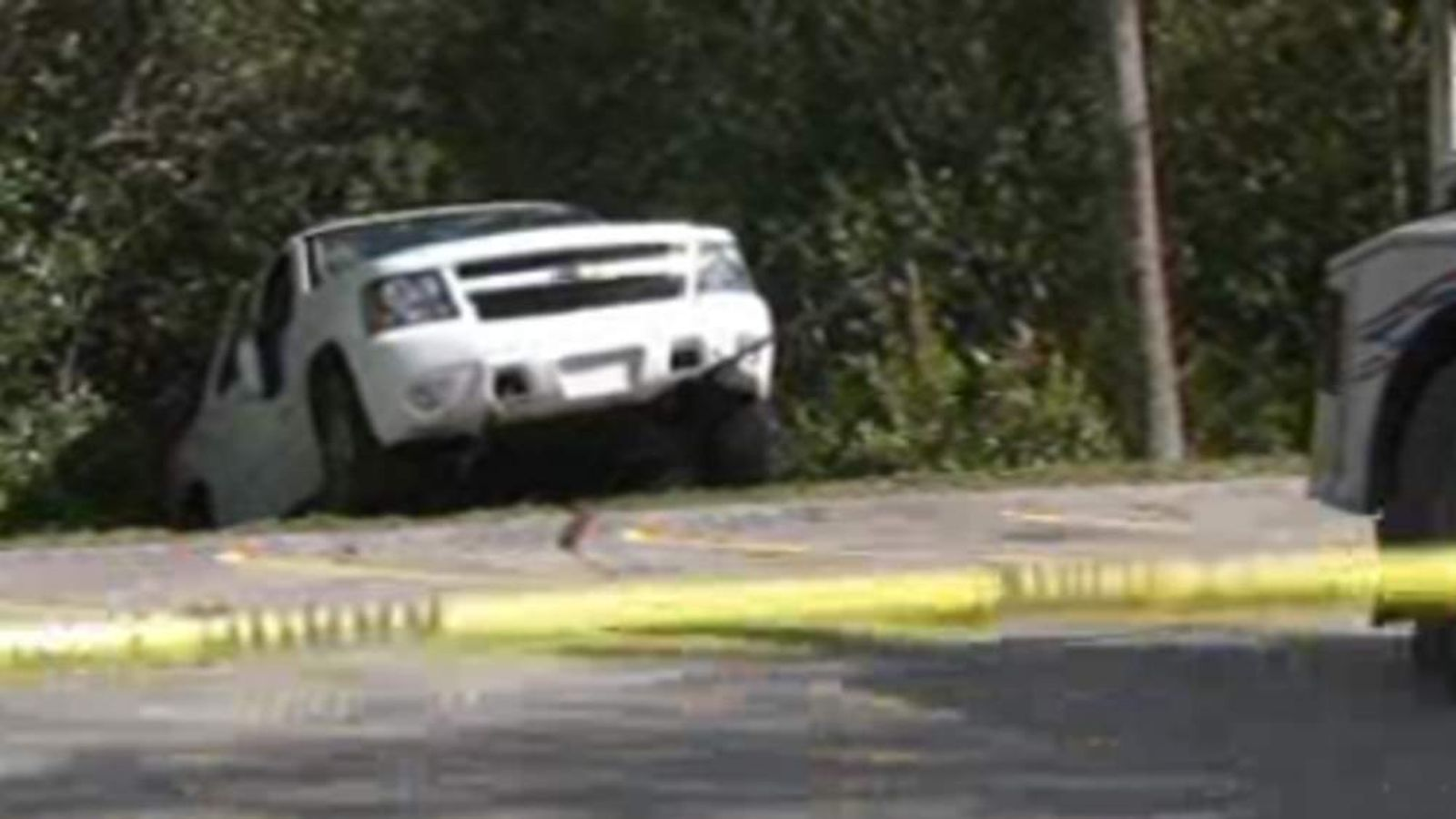 Crews had to tow the woman's 2009 Chevrolet Tahoe. Pic: WTSP-TV