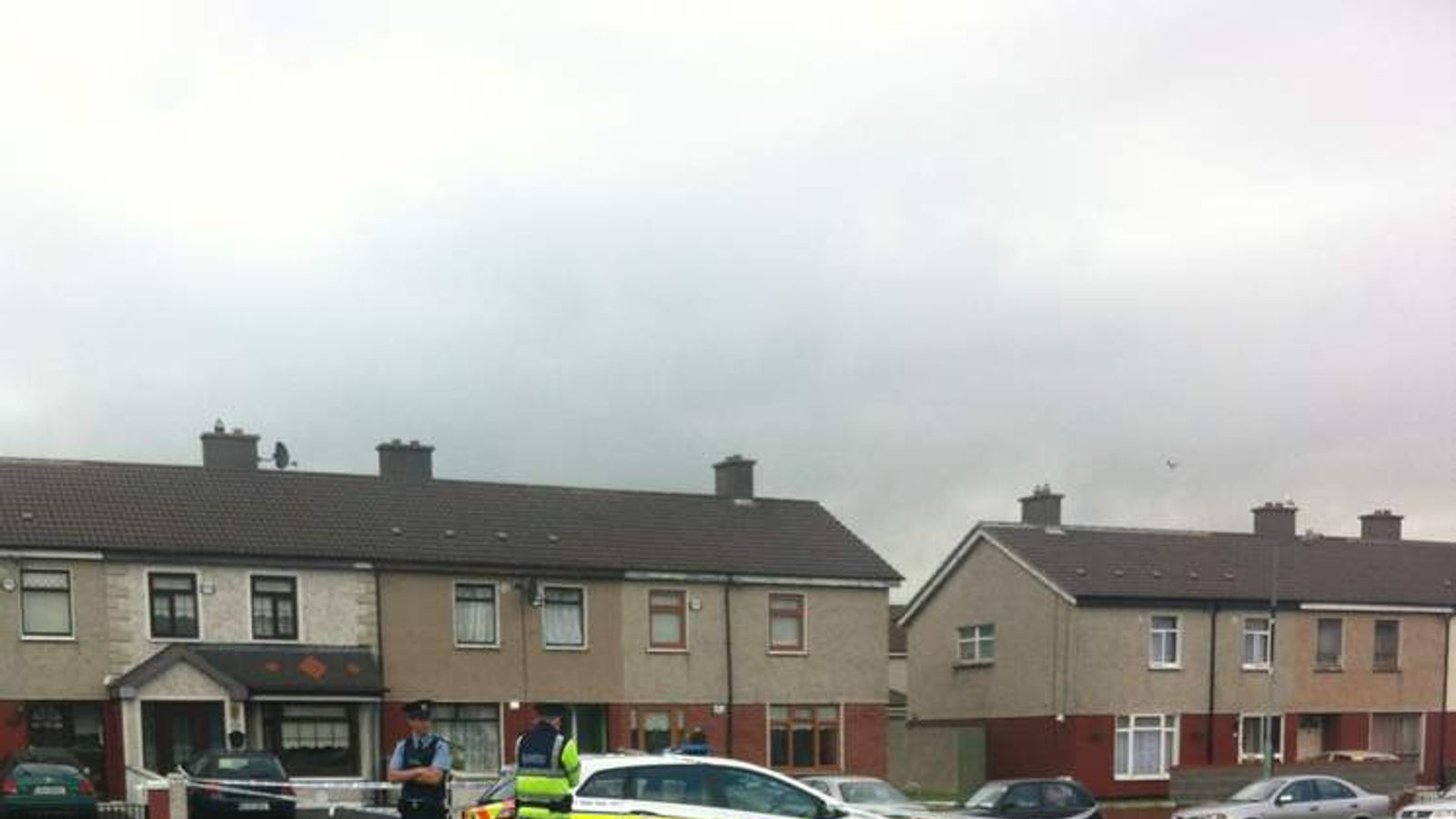 The scene of a shooting in the Ballyfermot area of Dublin.