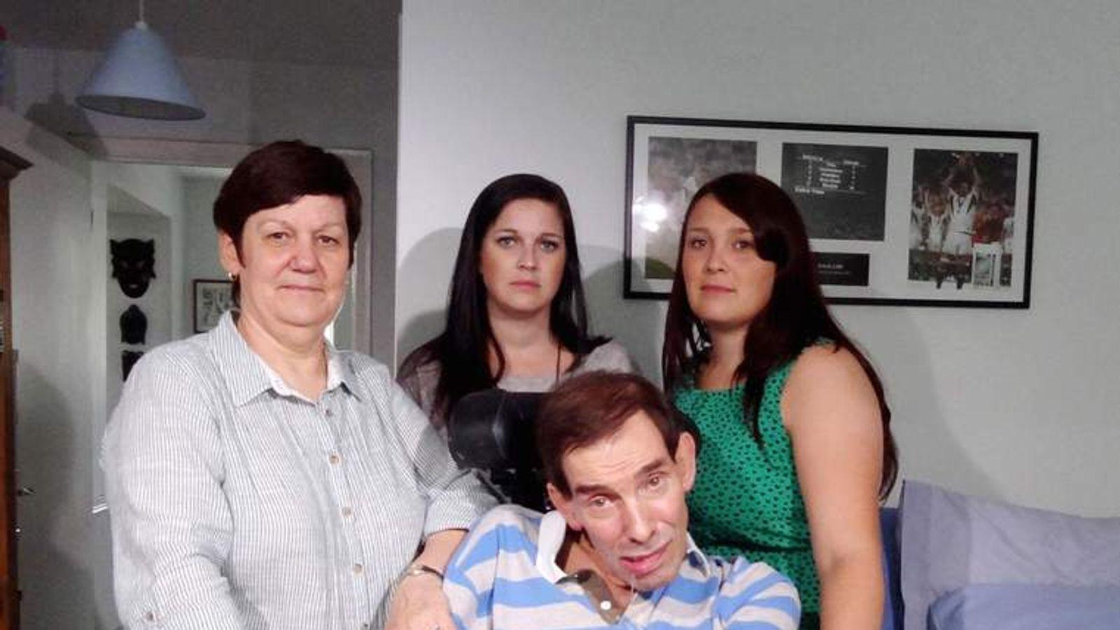 Tony Nicklinson with family