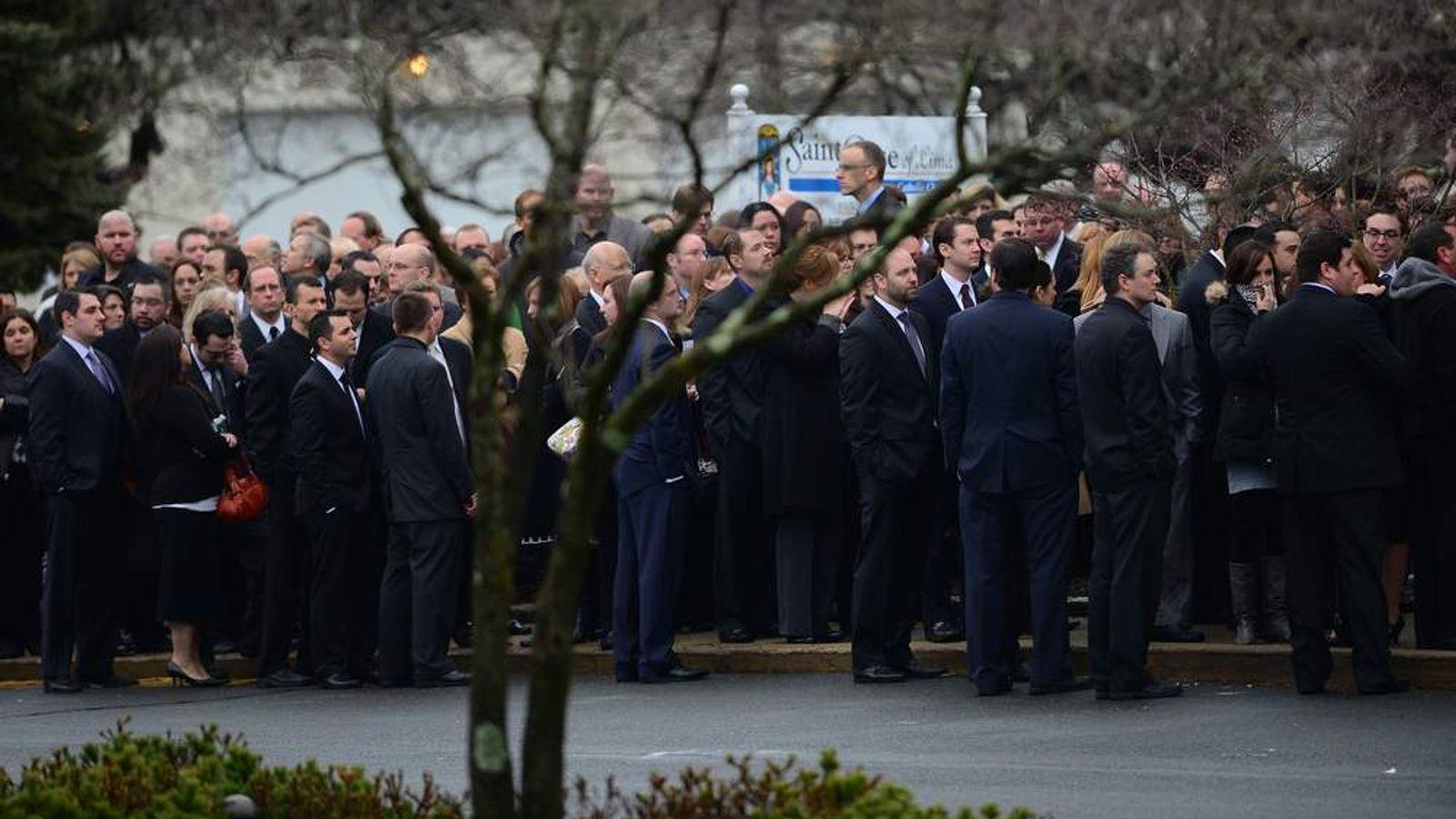 Funeral of school shooting victim Jessica Rekos in Newtown, Connecticut