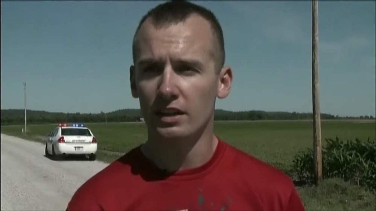 Pilot jumps from own damaged plane